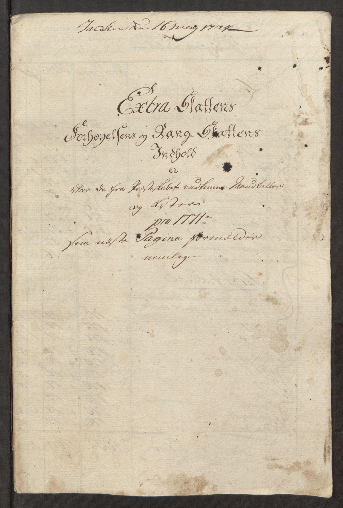 RA, Rentekammeret inntil 1814, Reviderte regnskaper, Fogderegnskap, R32/L1960: Ekstraskatten Jarlsberg grevskap, 1762-1772, s. 202
