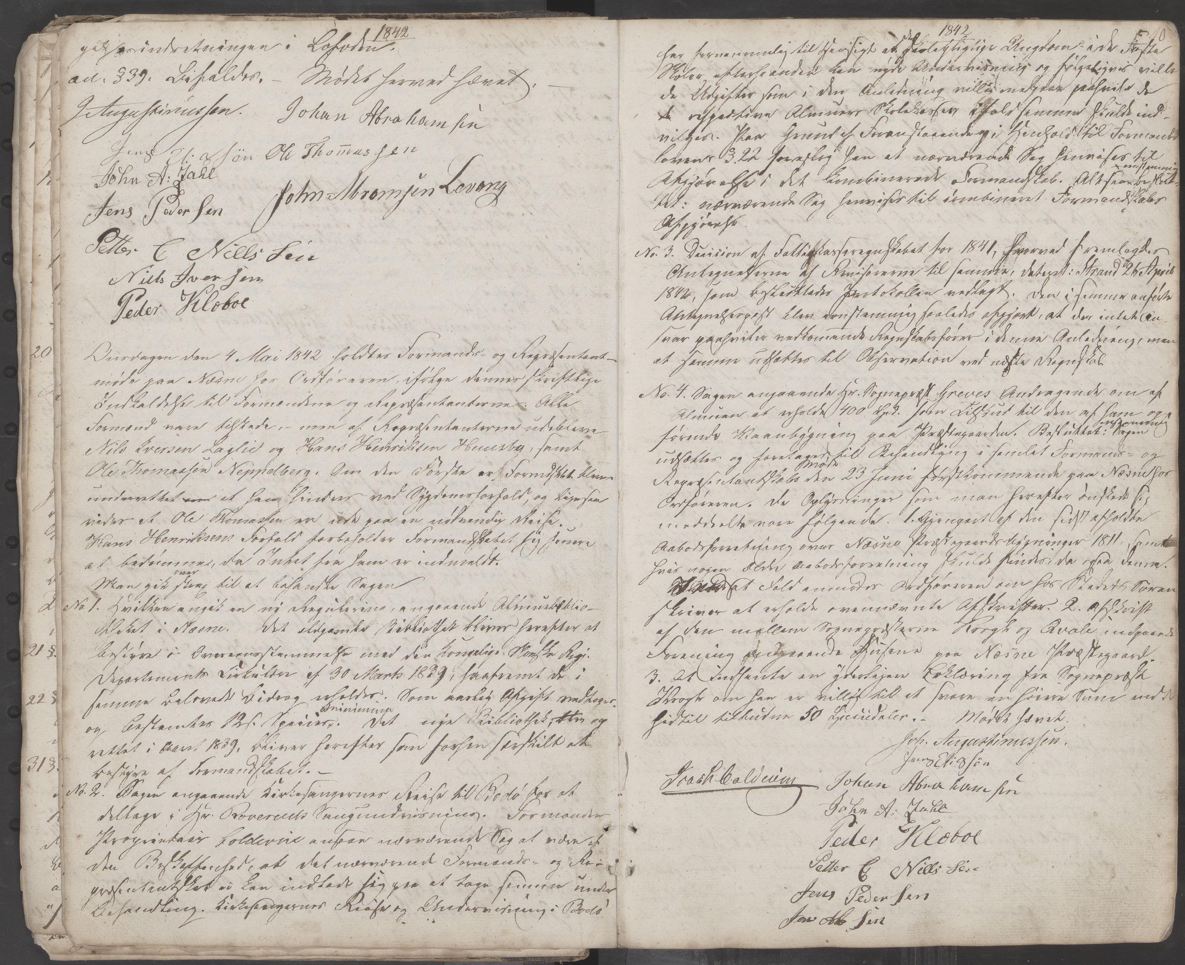 AIN, Nesna kommune. Formannskapet, 100/L0001: Møtebok, 1838-1873, s. 10