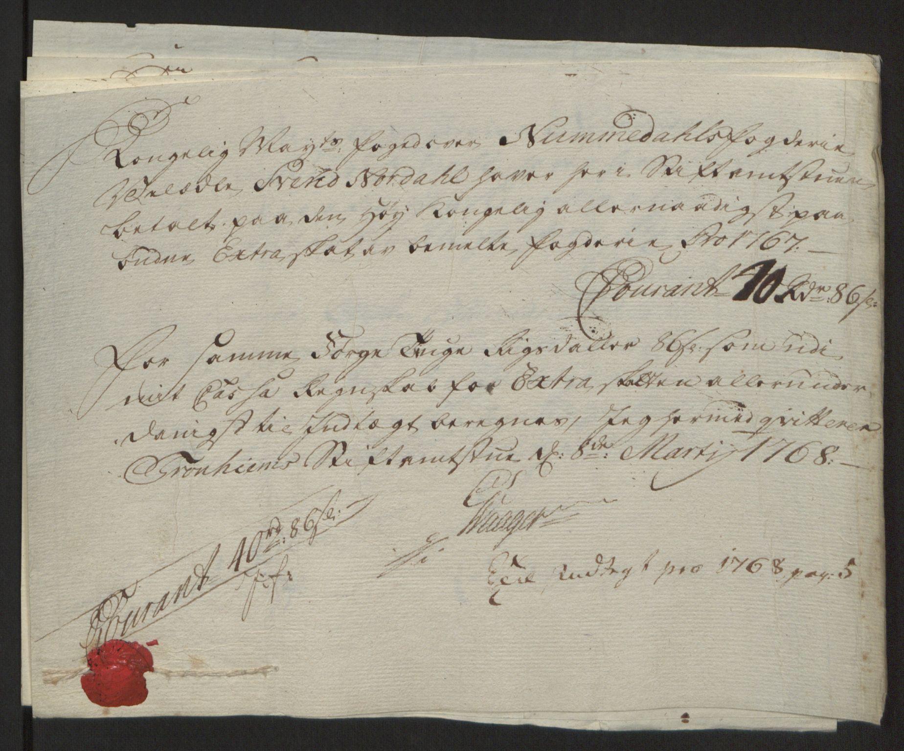 RA, Rentekammeret inntil 1814, Reviderte regnskaper, Fogderegnskap, R64/L4502: Ekstraskatten Namdal, 1762-1772, s. 278