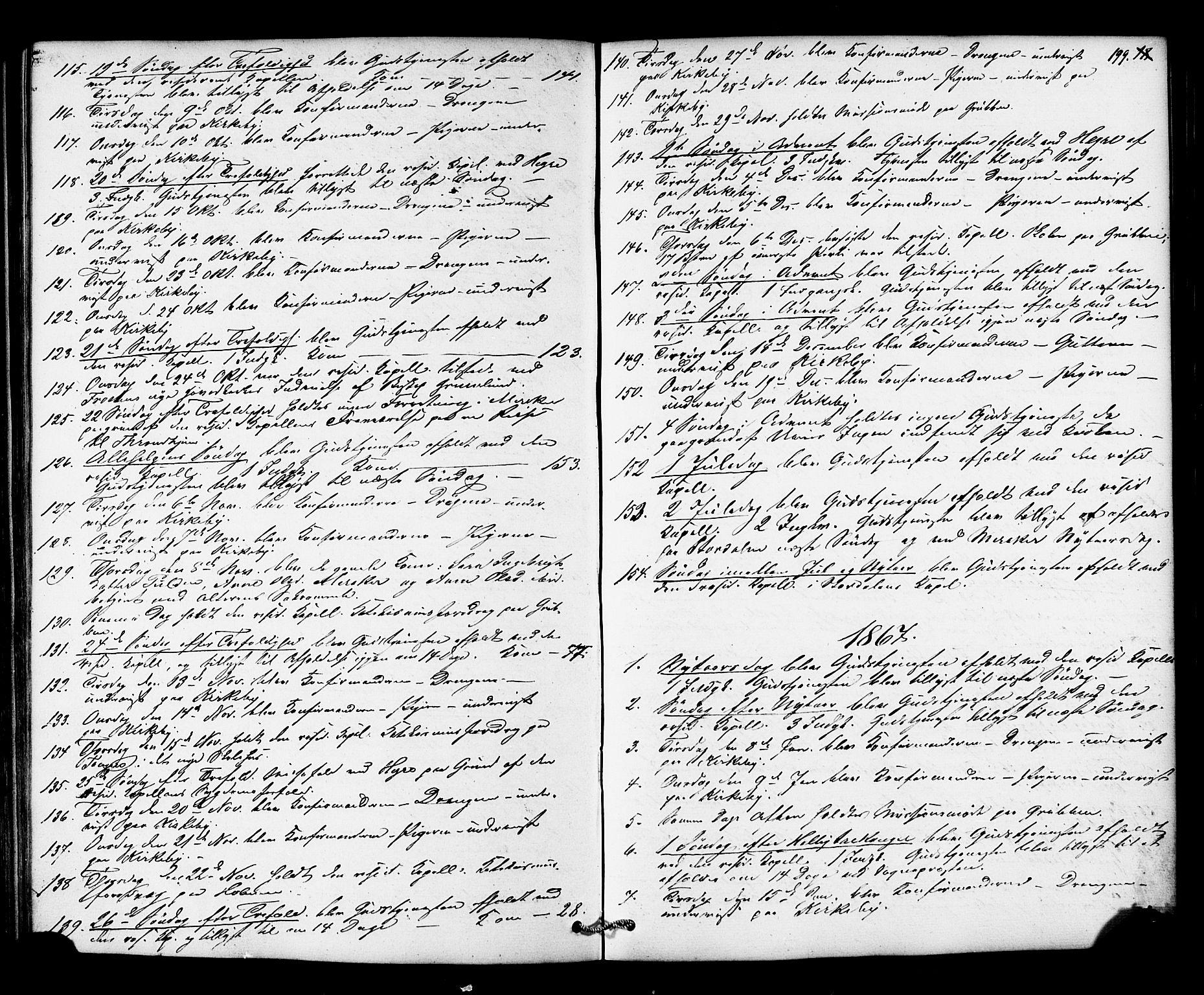 SAT, Ministerialprotokoller, klokkerbøker og fødselsregistre - Nord-Trøndelag, 706/L0041: Ministerialbok nr. 706A02, 1862-1877, s. 199