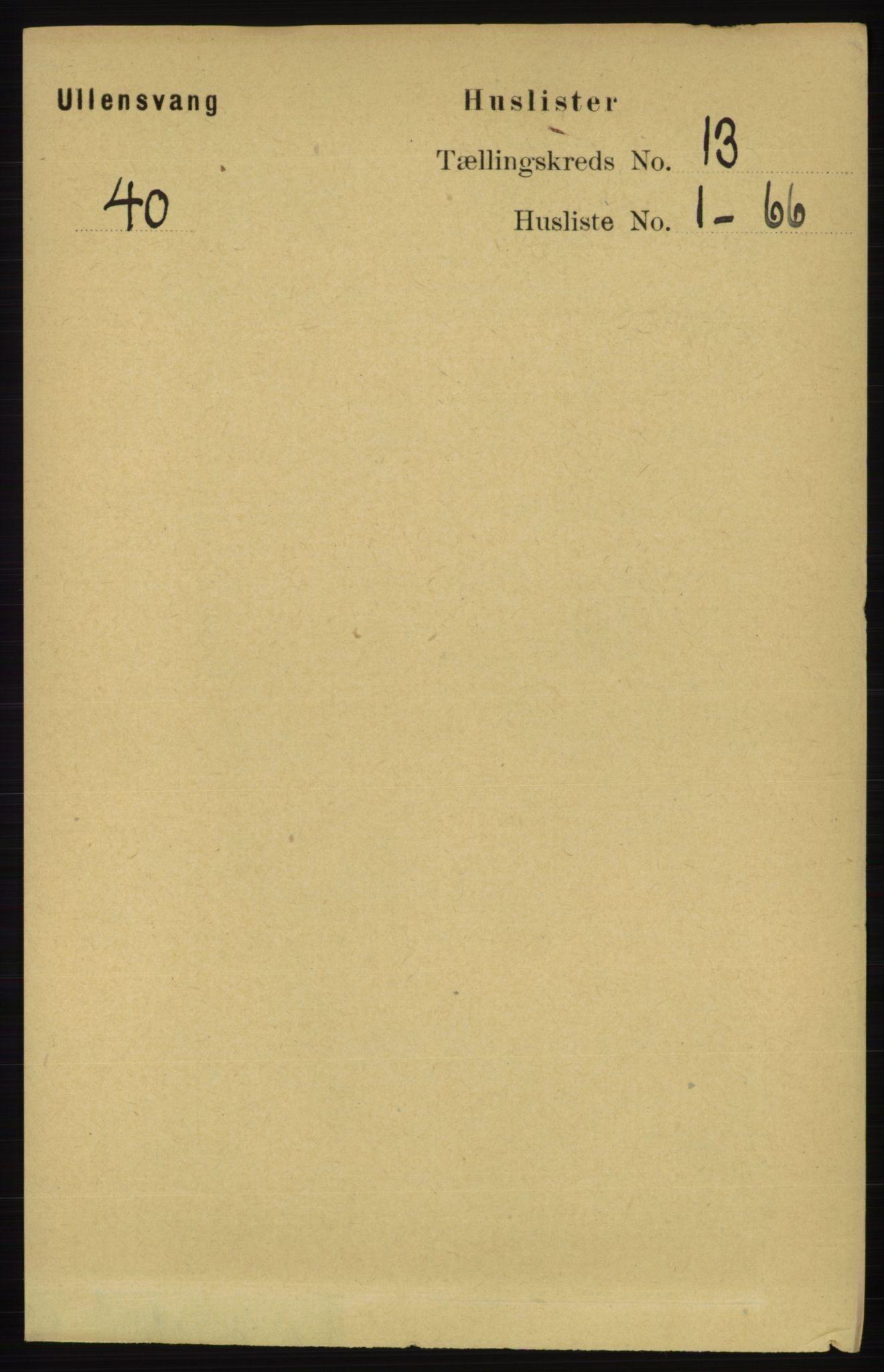 RA, Folketelling 1891 for 1230 Ullensvang herred, 1891, s. 5021