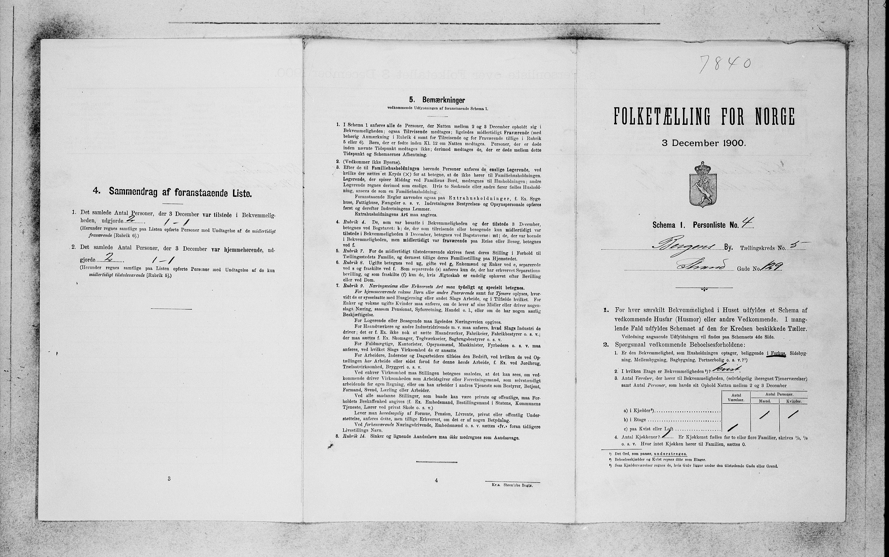 SAB, Folketelling 1900 for 1301 Bergen kjøpstad, 1900, s. 1006