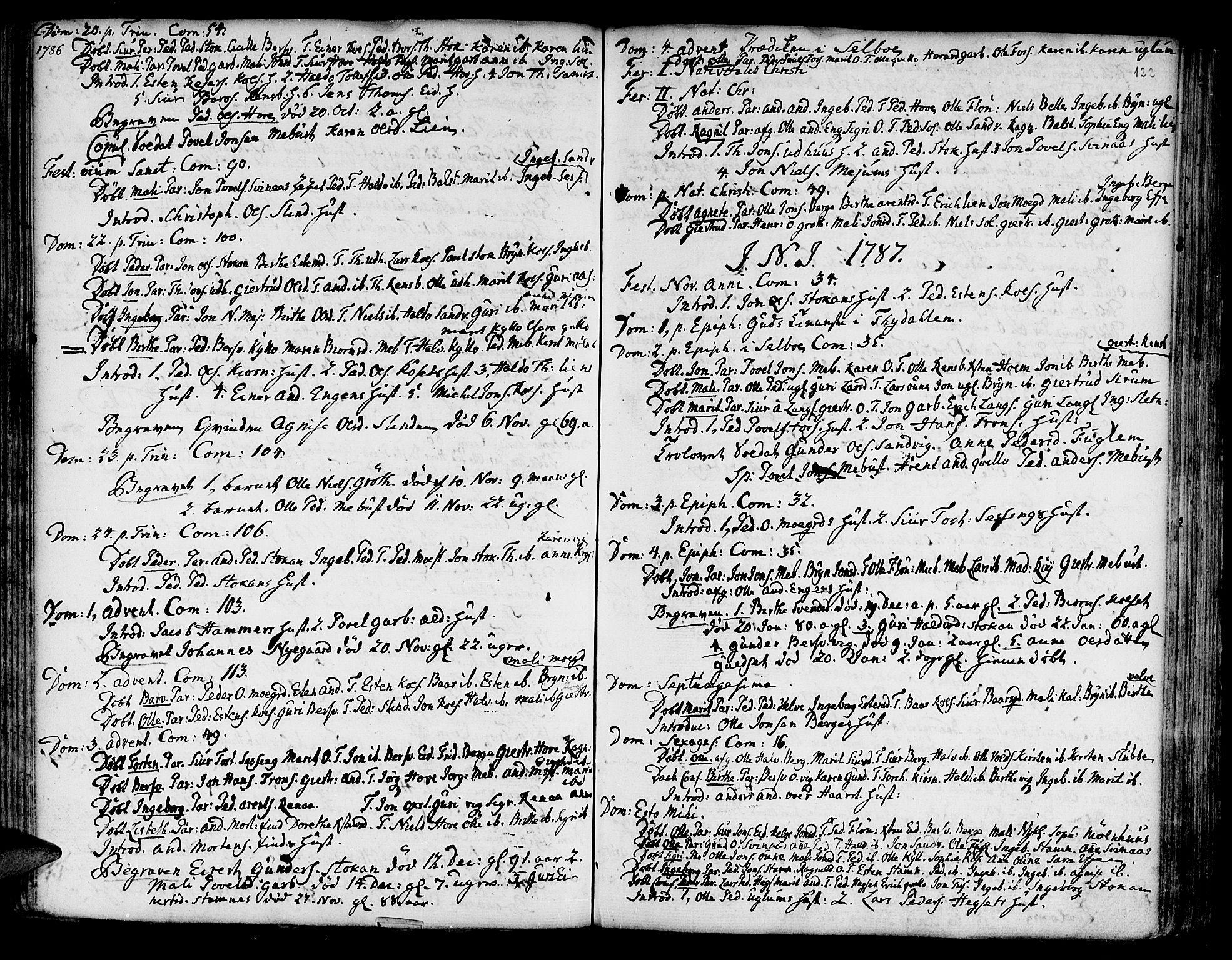 SAT, Ministerialprotokoller, klokkerbøker og fødselsregistre - Sør-Trøndelag, 695/L1138: Ministerialbok nr. 695A02 /1, 1757-1801, s. 122
