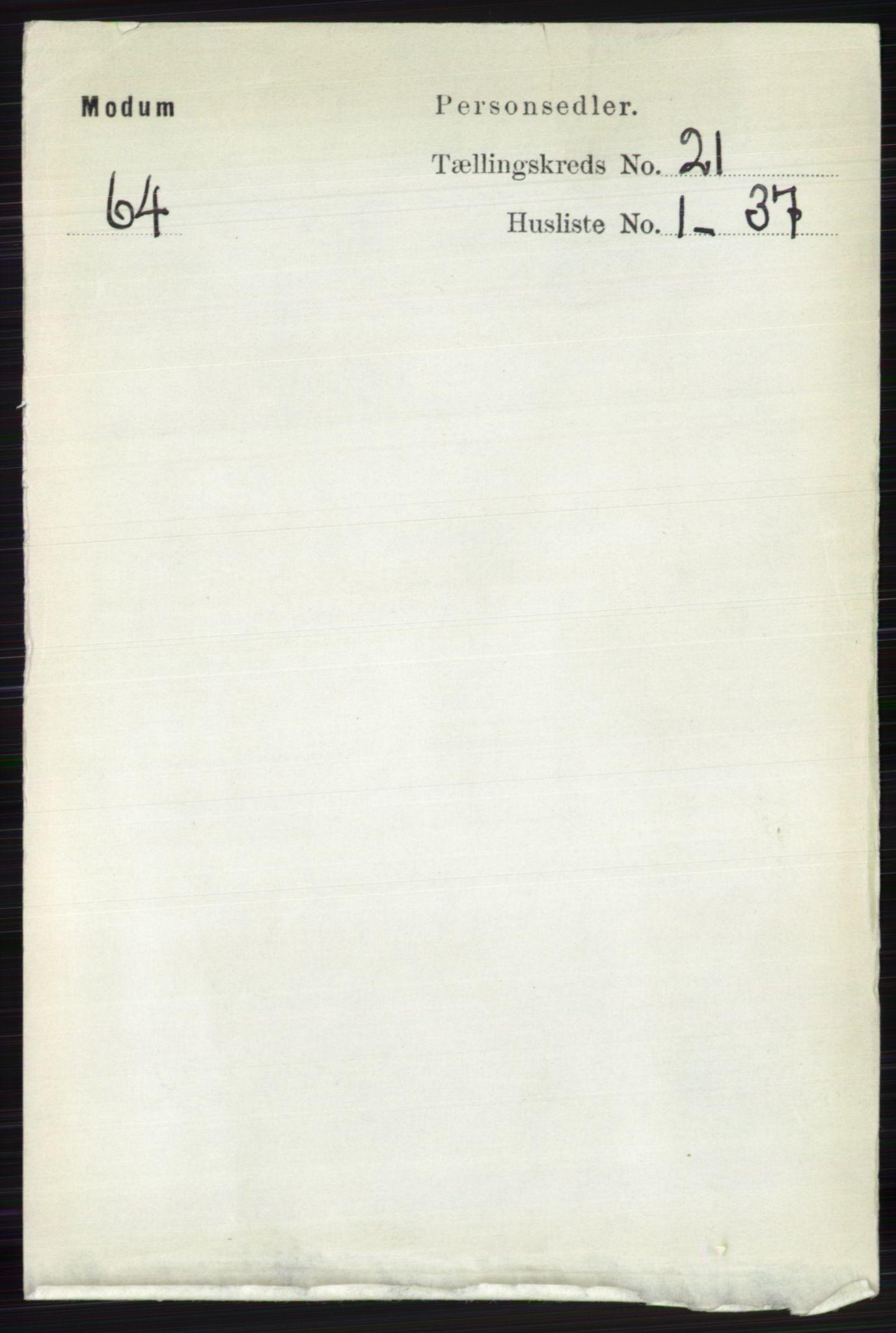 RA, Folketelling 1891 for 0623 Modum herred, 1891, s. 8102