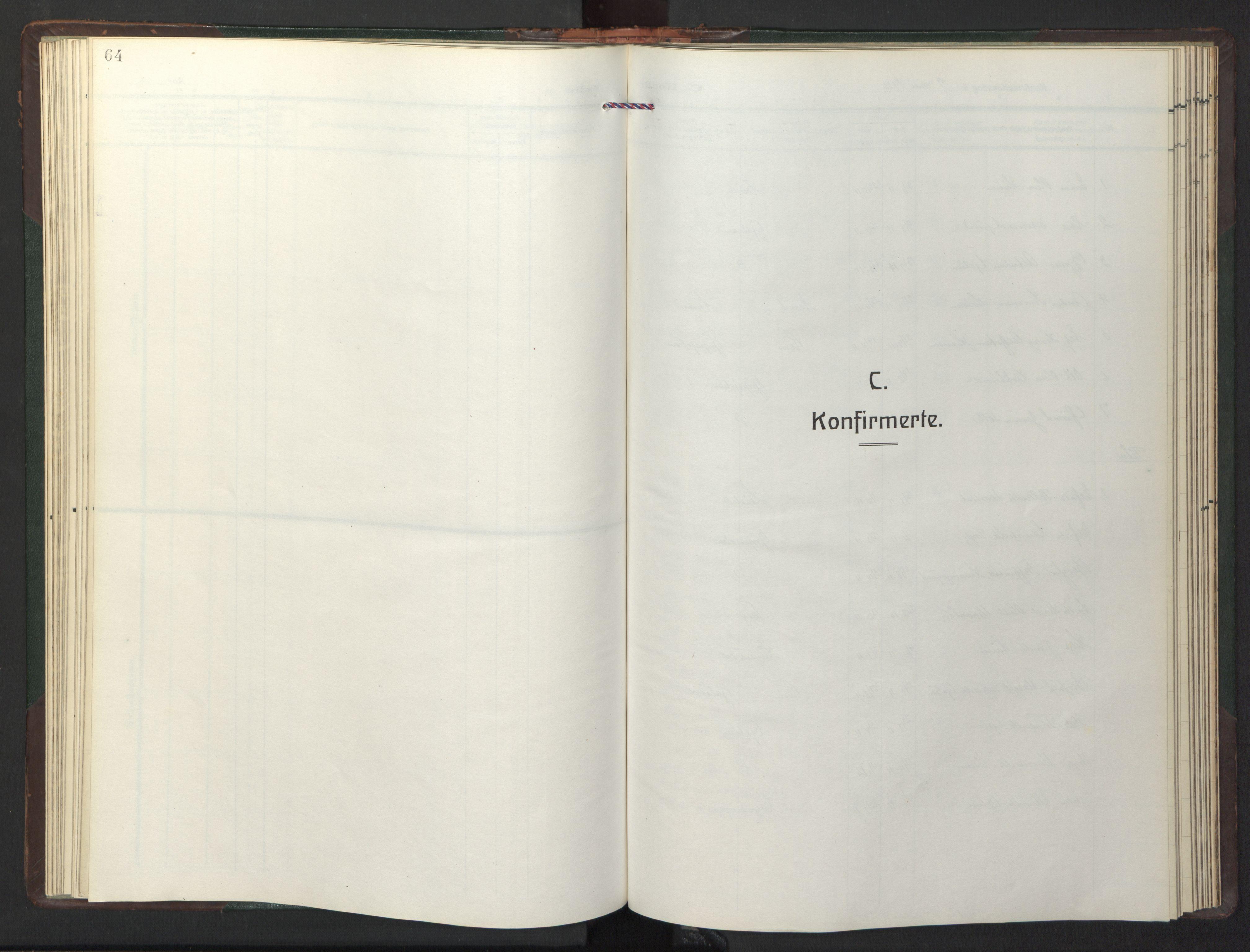 SAT, Ministerialprotokoller, klokkerbøker og fødselsregistre - Sør-Trøndelag, 681/L0944: Klokkerbok nr. 681C08, 1926-1954, s. 64