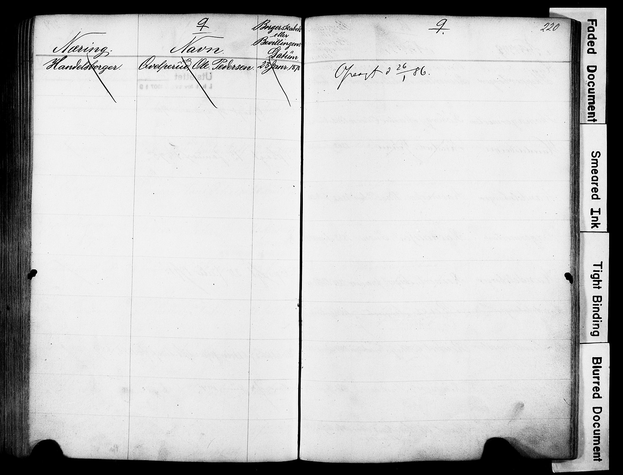 SAO, Kristiania magistrat, F/Fb/L0004: Borgerrulle, 1860-1879, s. 222