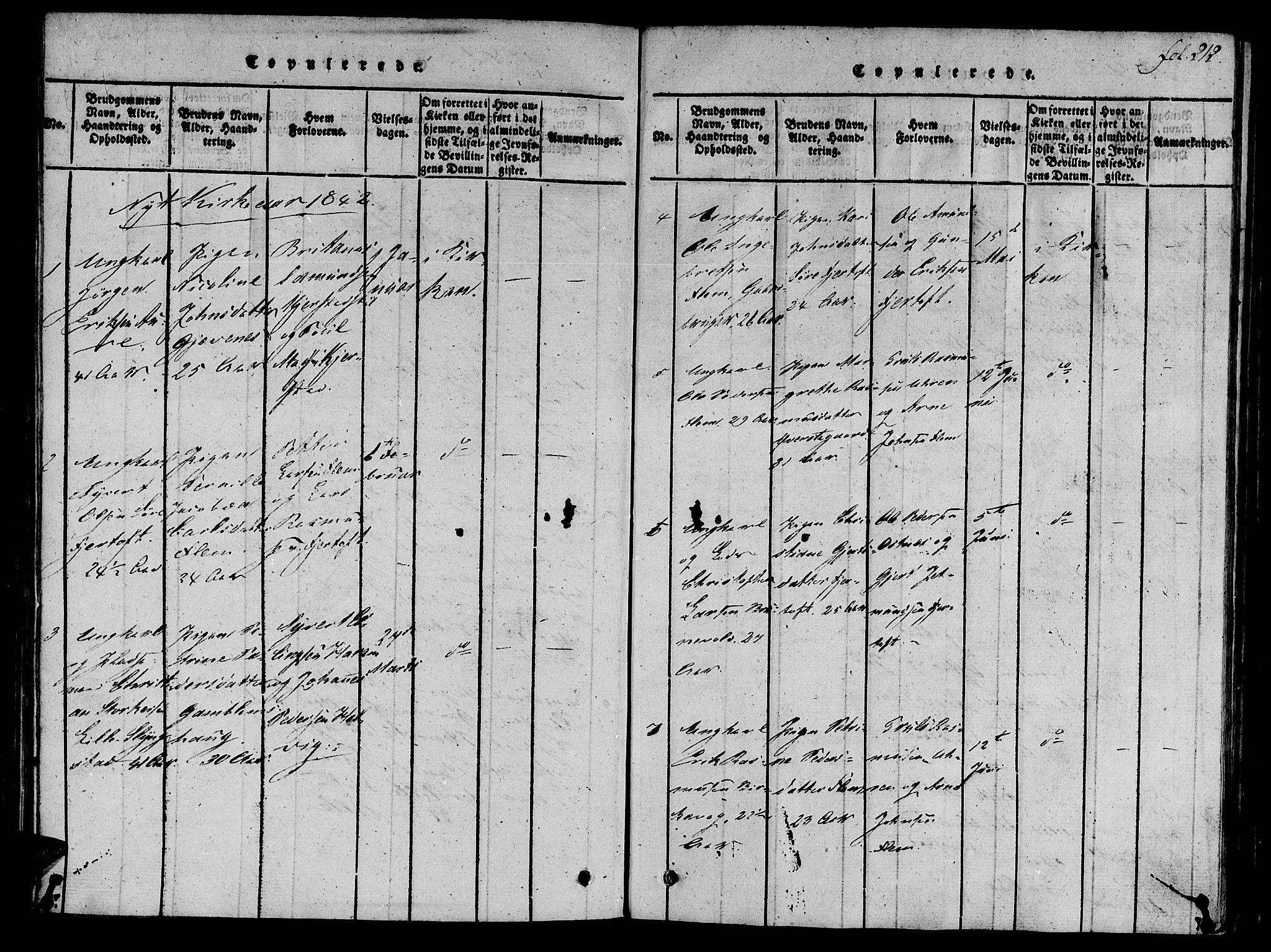 SAT, Ministerialprotokoller, klokkerbøker og fødselsregistre - Møre og Romsdal, 536/L0495: Ministerialbok nr. 536A04, 1818-1847, s. 212
