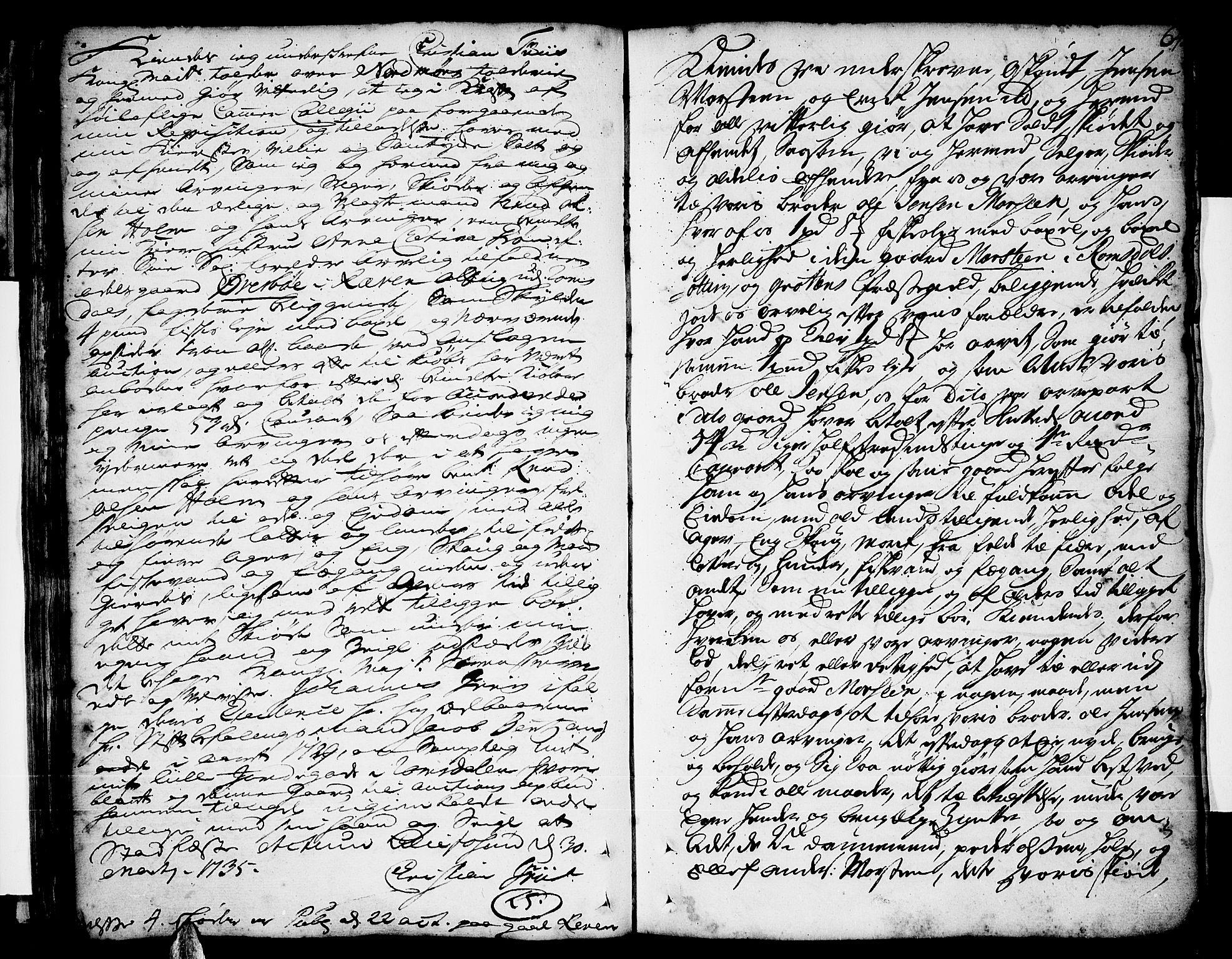 SAT, Romsdal sorenskriveri, 2/2C/L0002: Pantebok nr. 2, 1731-1745, s. 64