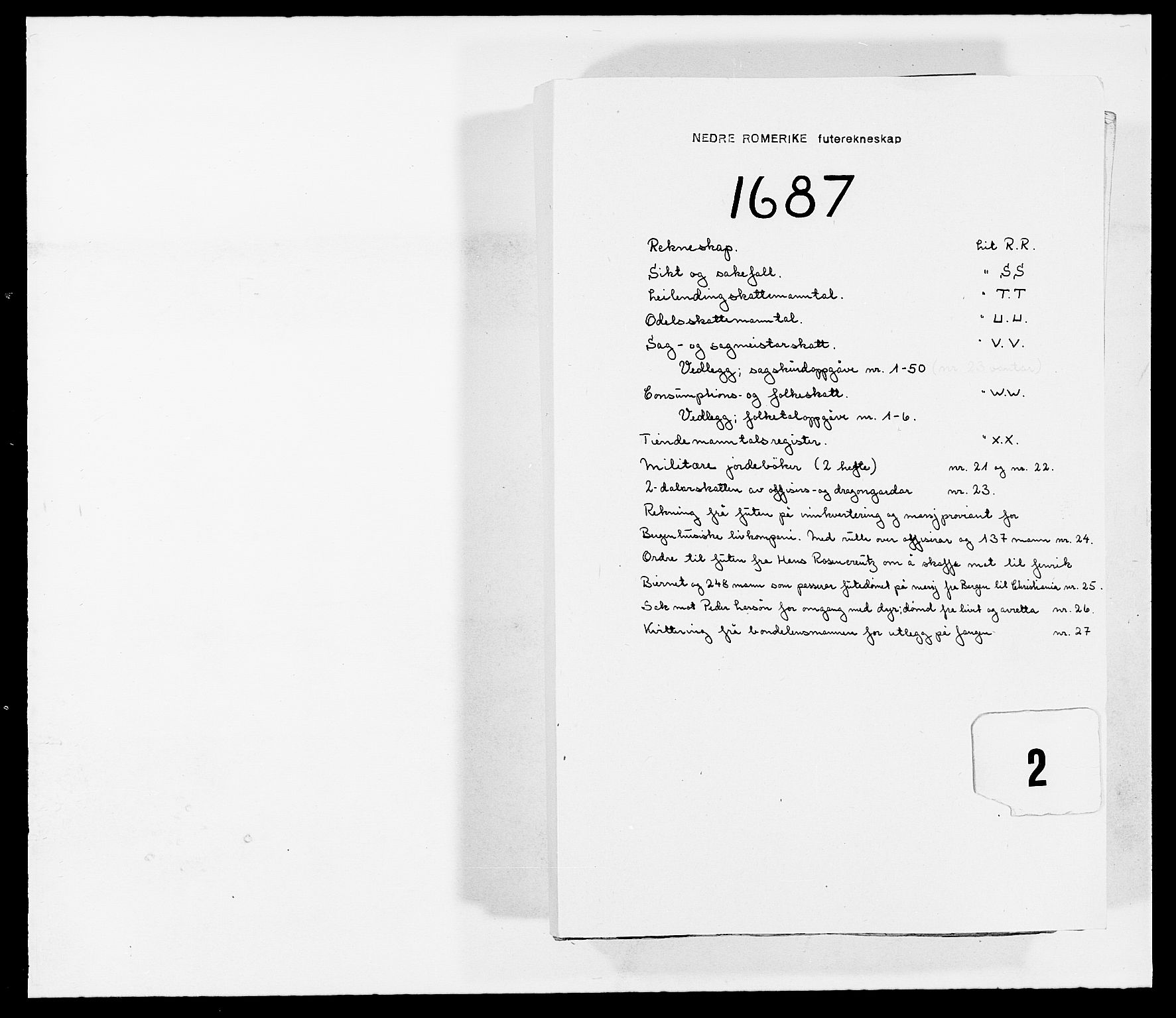 RA, Rentekammeret inntil 1814, Reviderte regnskaper, Fogderegnskap, R11/L0572: Fogderegnskap Nedre Romerike, 1686-1687, s. 212