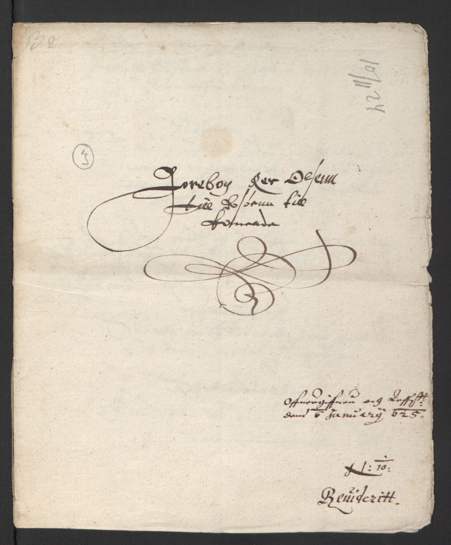 RA, Stattholderembetet 1572-1771, Ek/L0007: Jordebøker til utlikning av rosstjeneste 1624-1626:, 1624-1625, s. 323