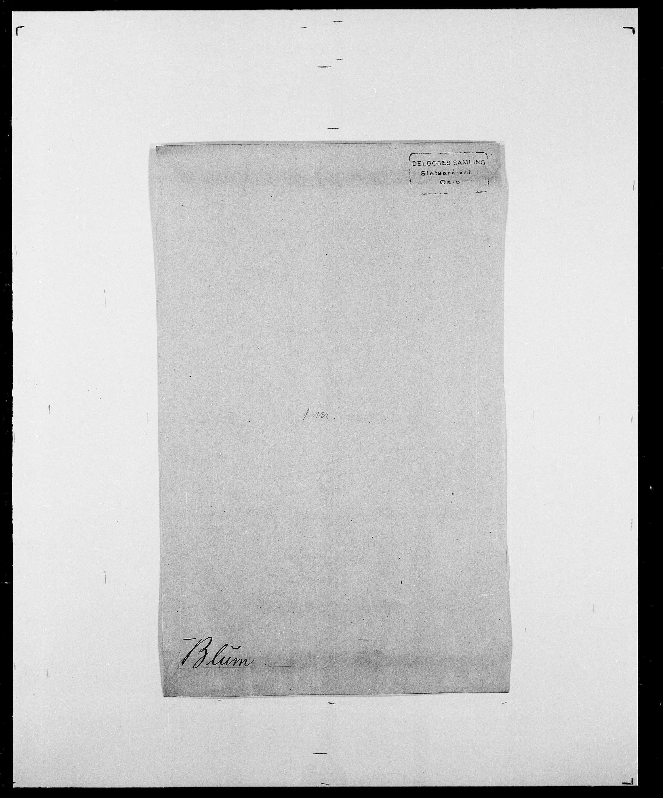 SAO, Delgobe, Charles Antoine - samling, D/Da/L0004: Bergendahl - Blære, s. 786