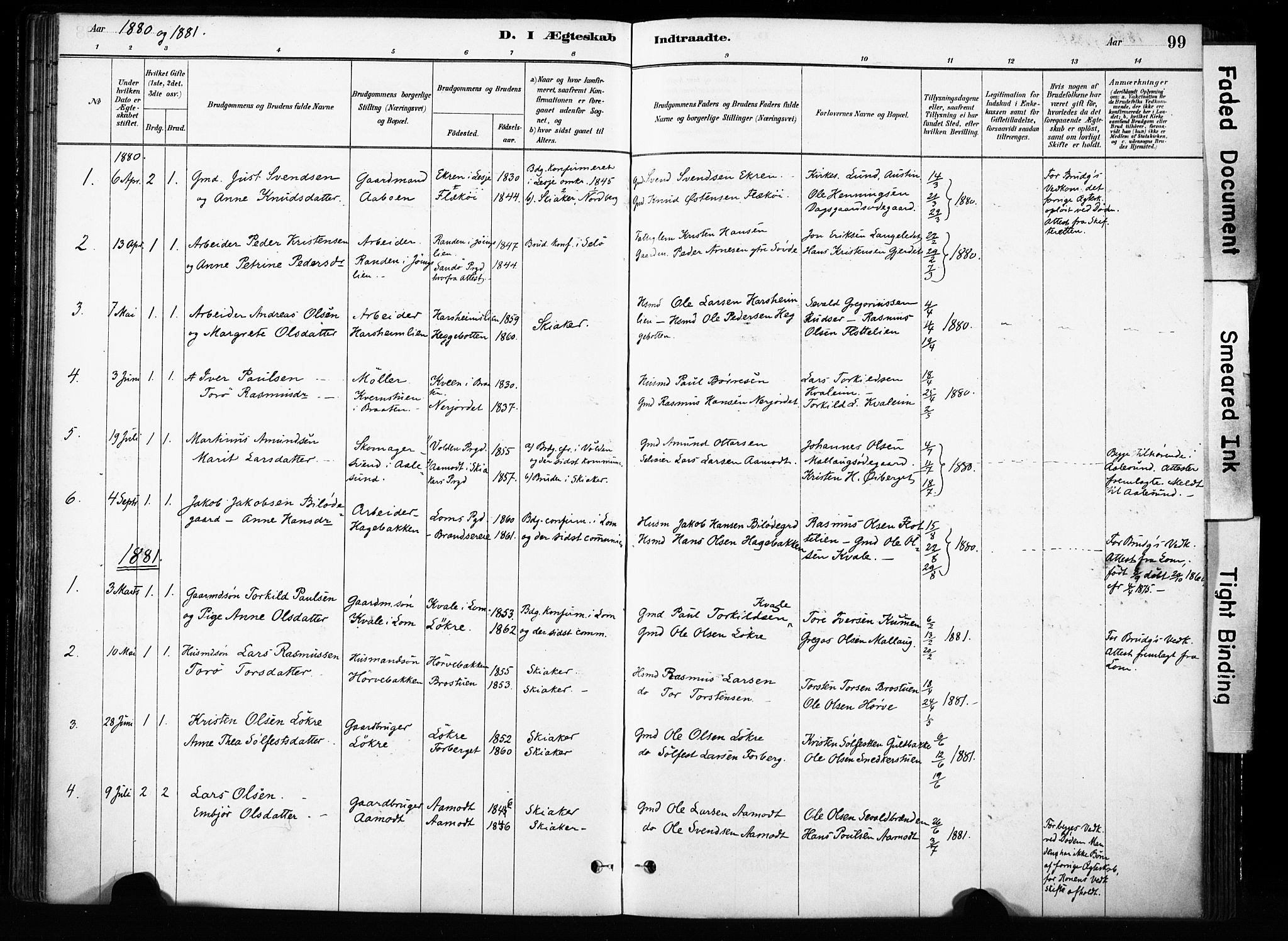 SAH, Skjåk prestekontor, Ministerialbok nr. 4, 1880-1904, s. 99