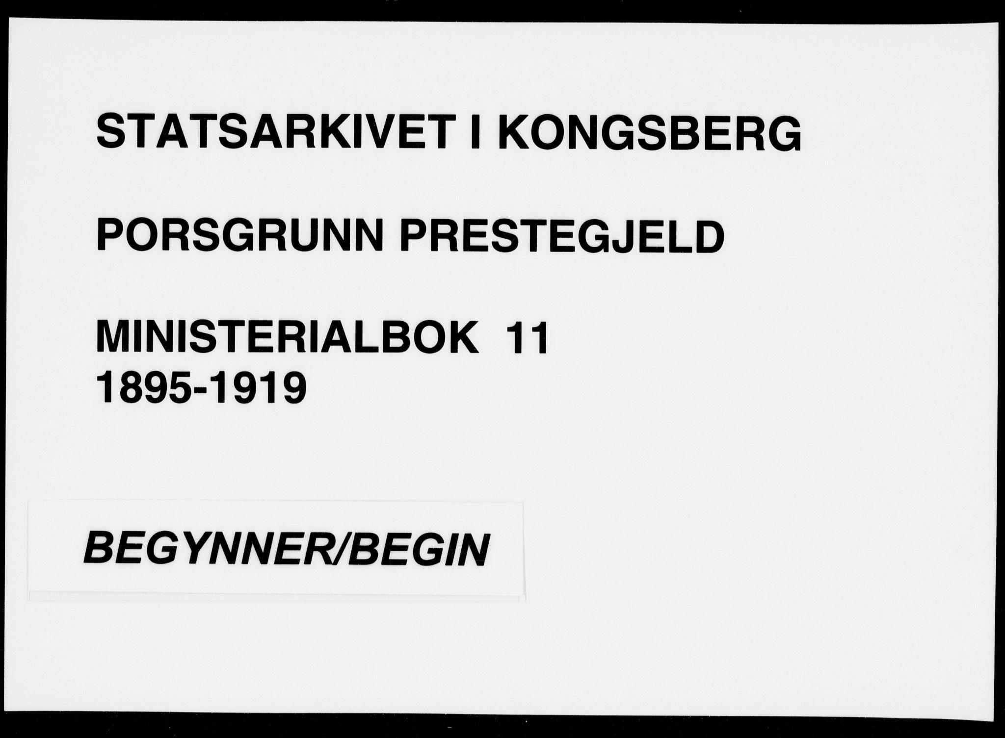 SAKO, Porsgrunn kirkebøker , F/Fa/L0011: Ministerialbok nr. 11, 1895-1919