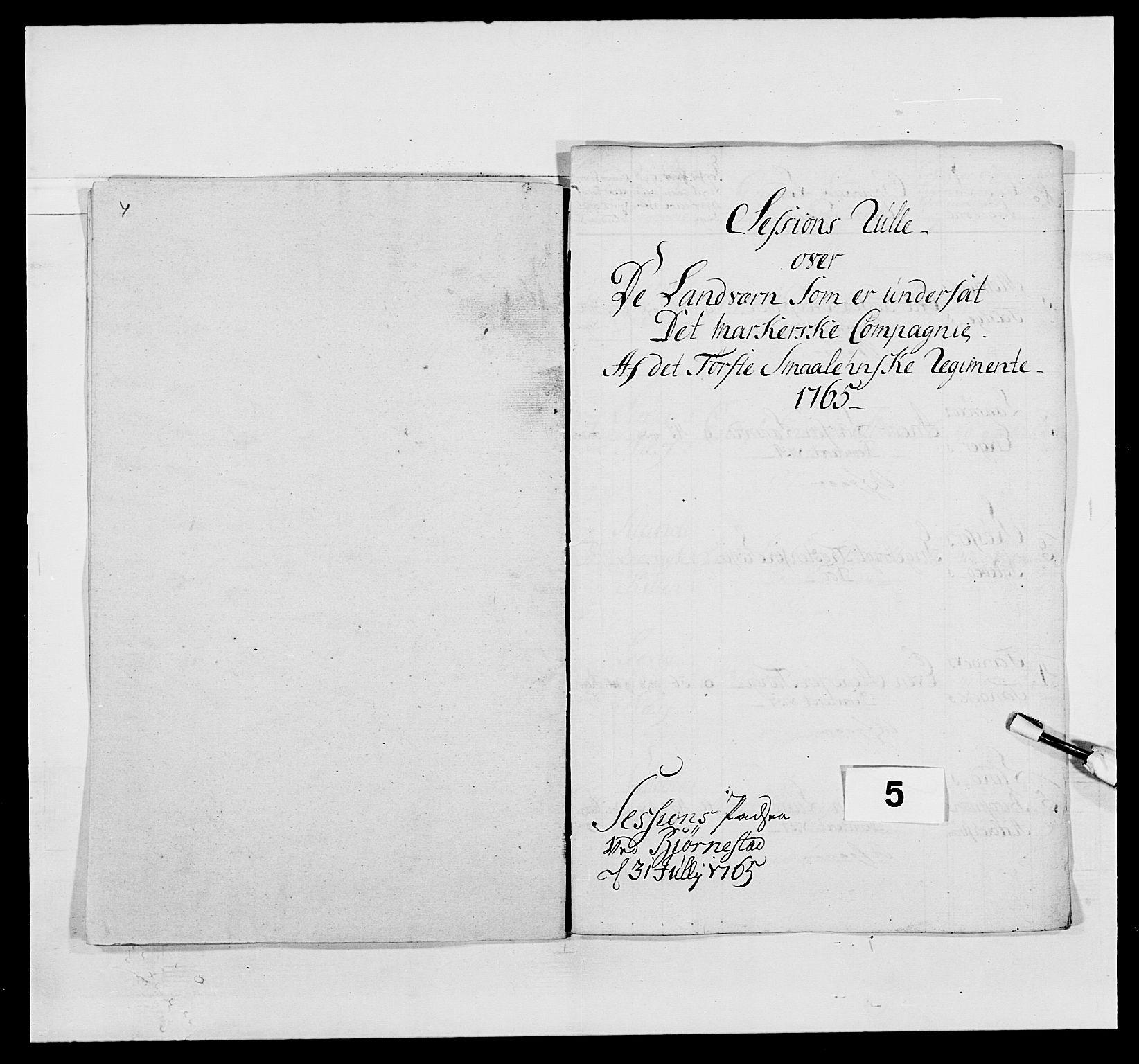 RA, Kommanderende general (KG I) med Det norske krigsdirektorium, E/Ea/L0496: 1. Smålenske regiment, 1765-1767, s. 39