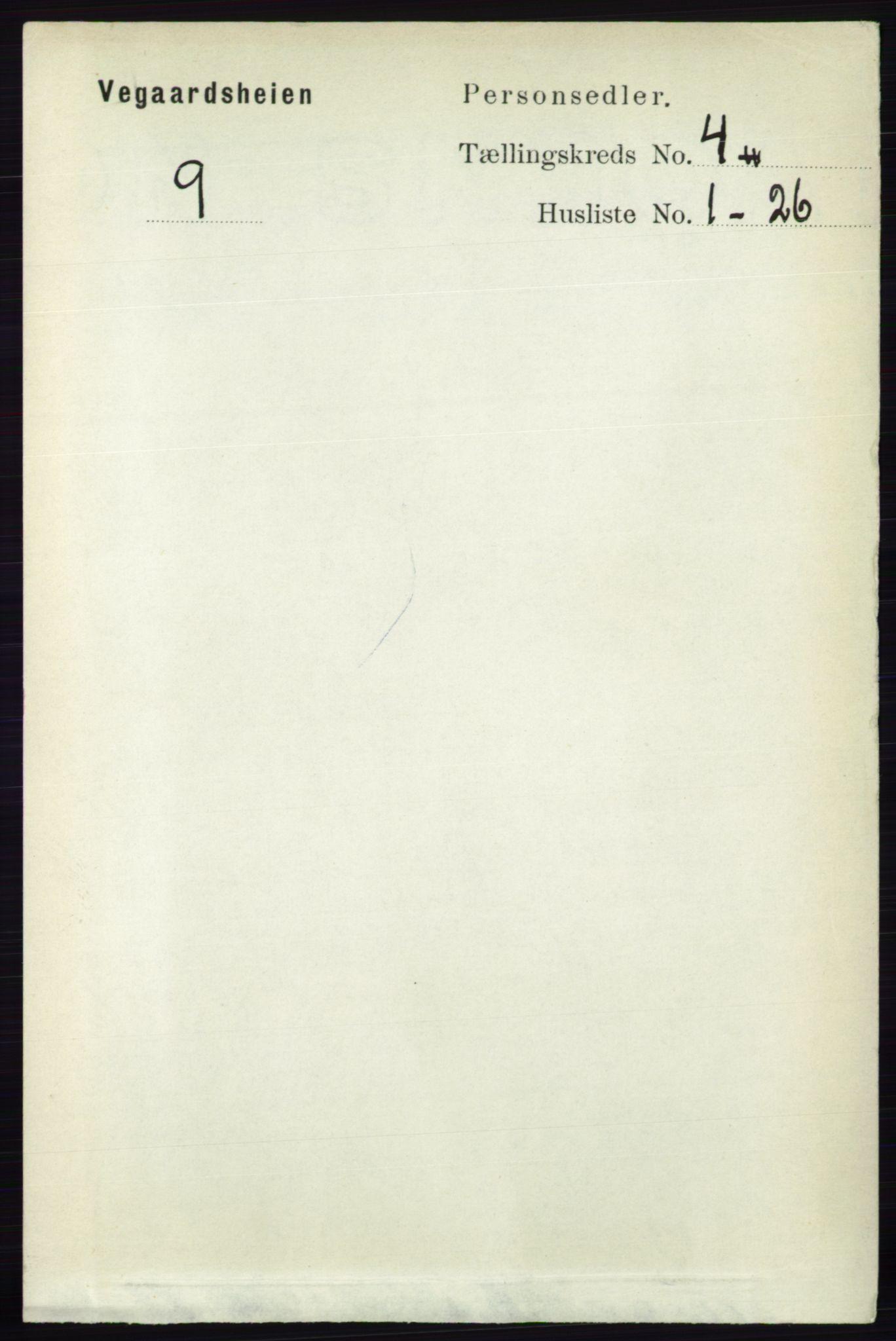 RA, Folketelling 1891 for 0912 Vegårshei herred, 1891, s. 757