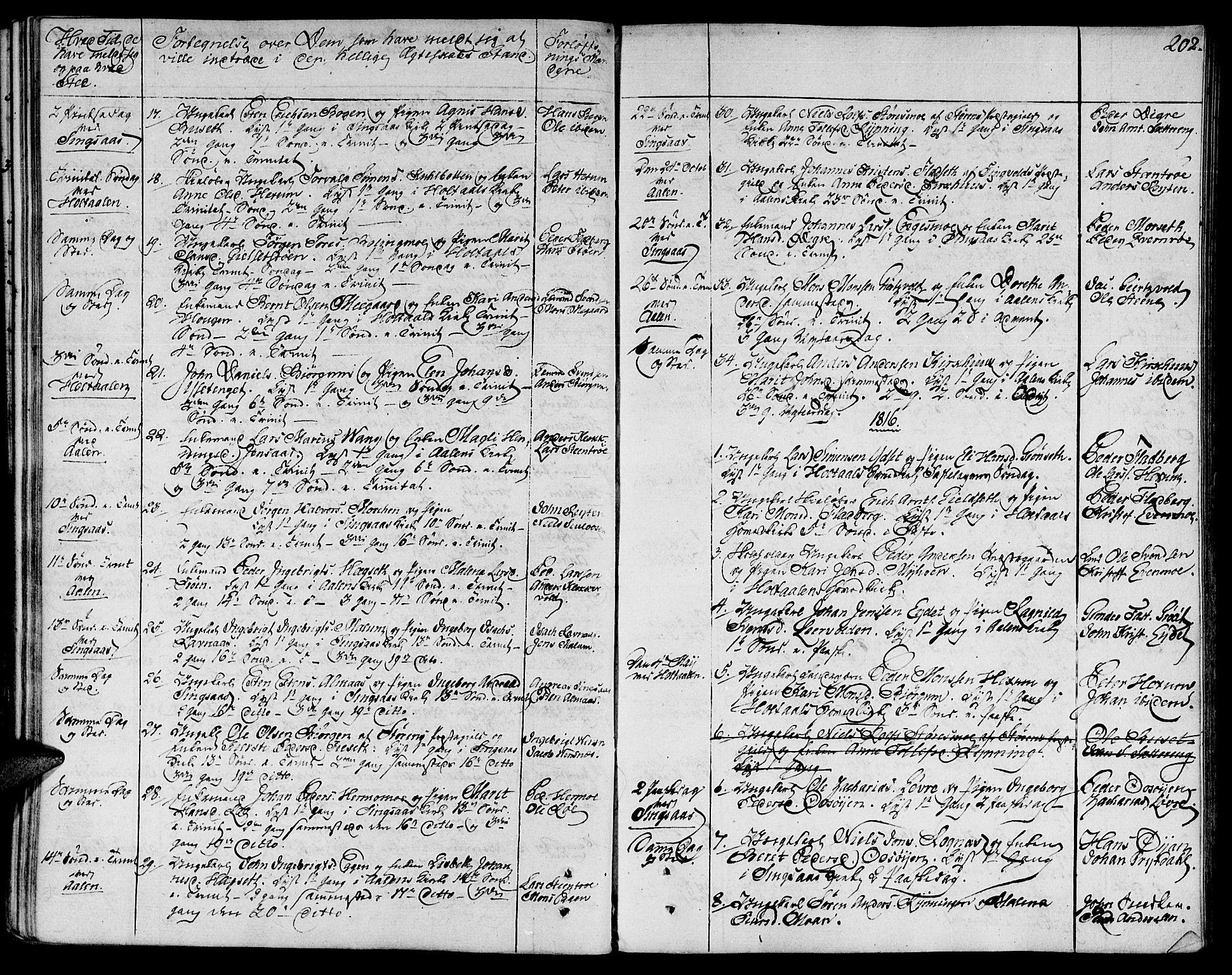 SAT, Ministerialprotokoller, klokkerbøker og fødselsregistre - Sør-Trøndelag, 685/L0953: Ministerialbok nr. 685A02, 1805-1816, s. 202