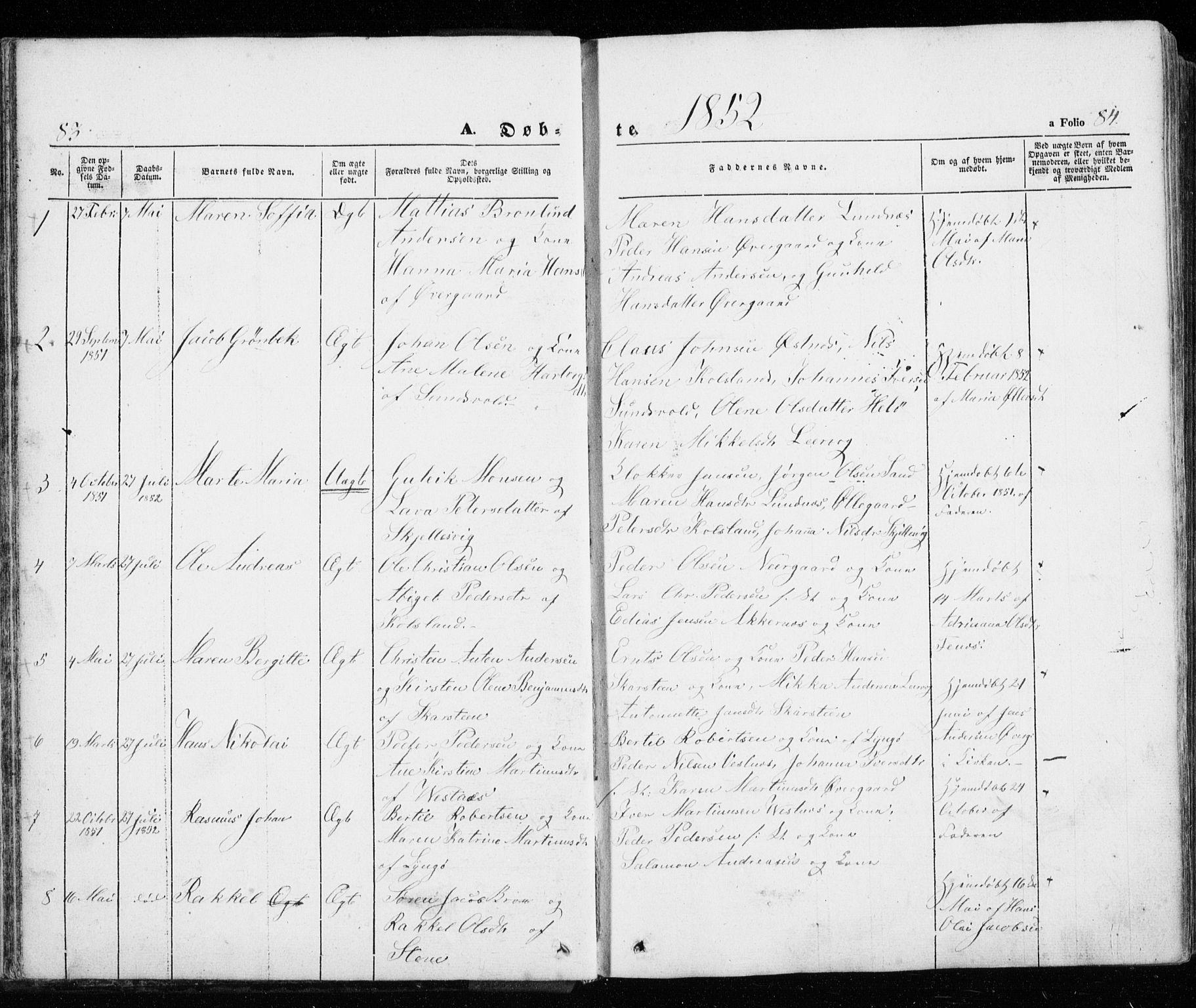 SATØ, Trondenes sokneprestkontor, H/Ha/L0010kirke: Ministerialbok nr. 10, 1840-1865, s. 83-84