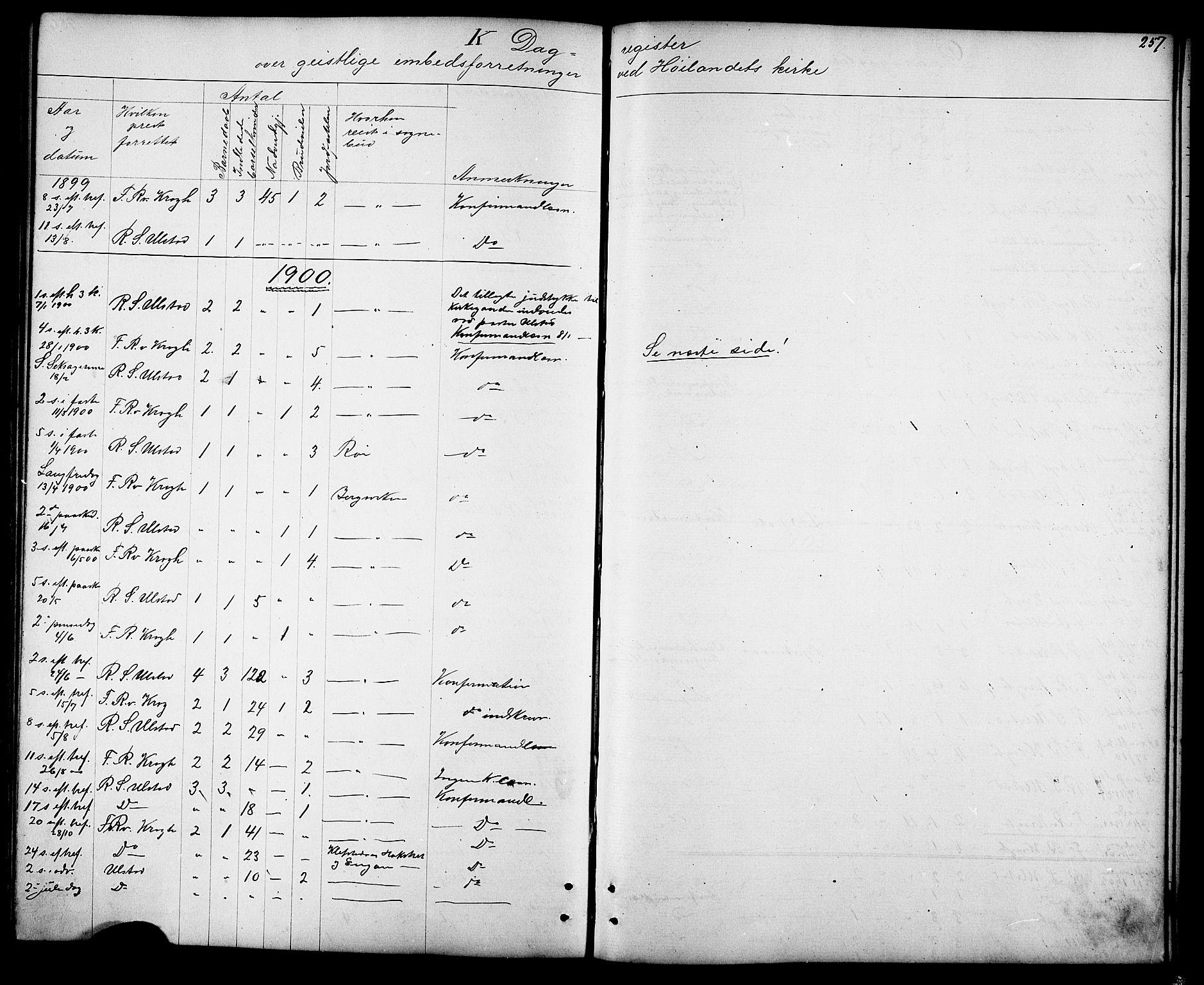 SAT, Ministerialprotokoller, klokkerbøker og fødselsregistre - Sør-Trøndelag, 694/L1132: Klokkerbok nr. 694C04, 1887-1914, s. 257