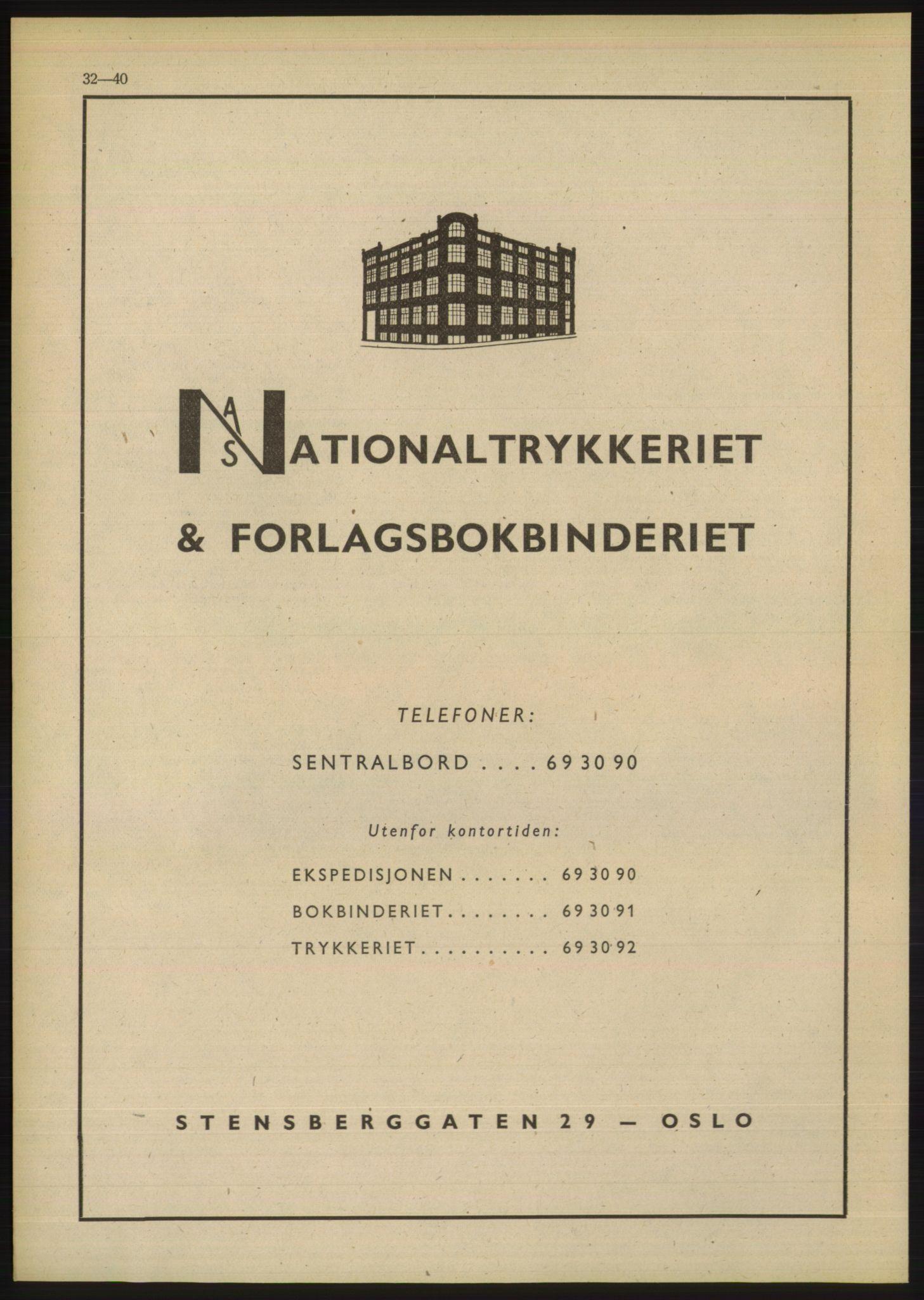 PUBL, Kristiania/Oslo adressebok, 1948, s. 32