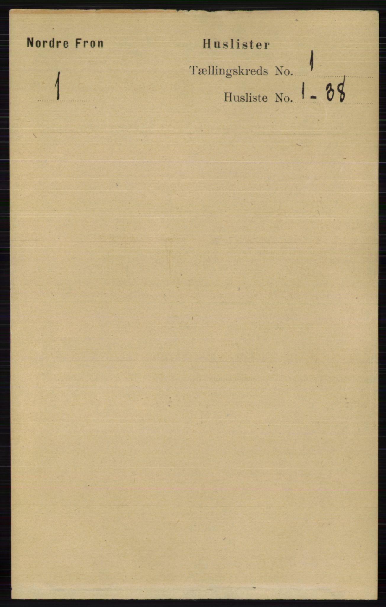 RA, Folketelling 1891 for 0518 Nord-Fron herred, 1891, s. 34