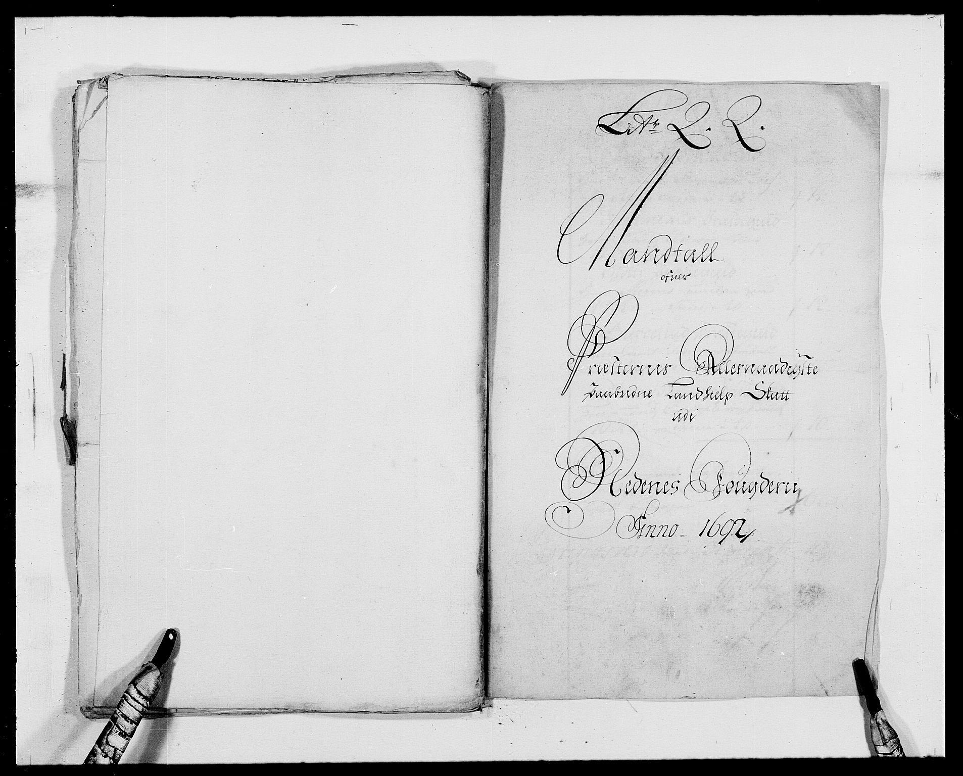 RA, Rentekammeret inntil 1814, Reviderte regnskaper, Fogderegnskap, R39/L2311: Fogderegnskap Nedenes, 1690-1692, s. 272