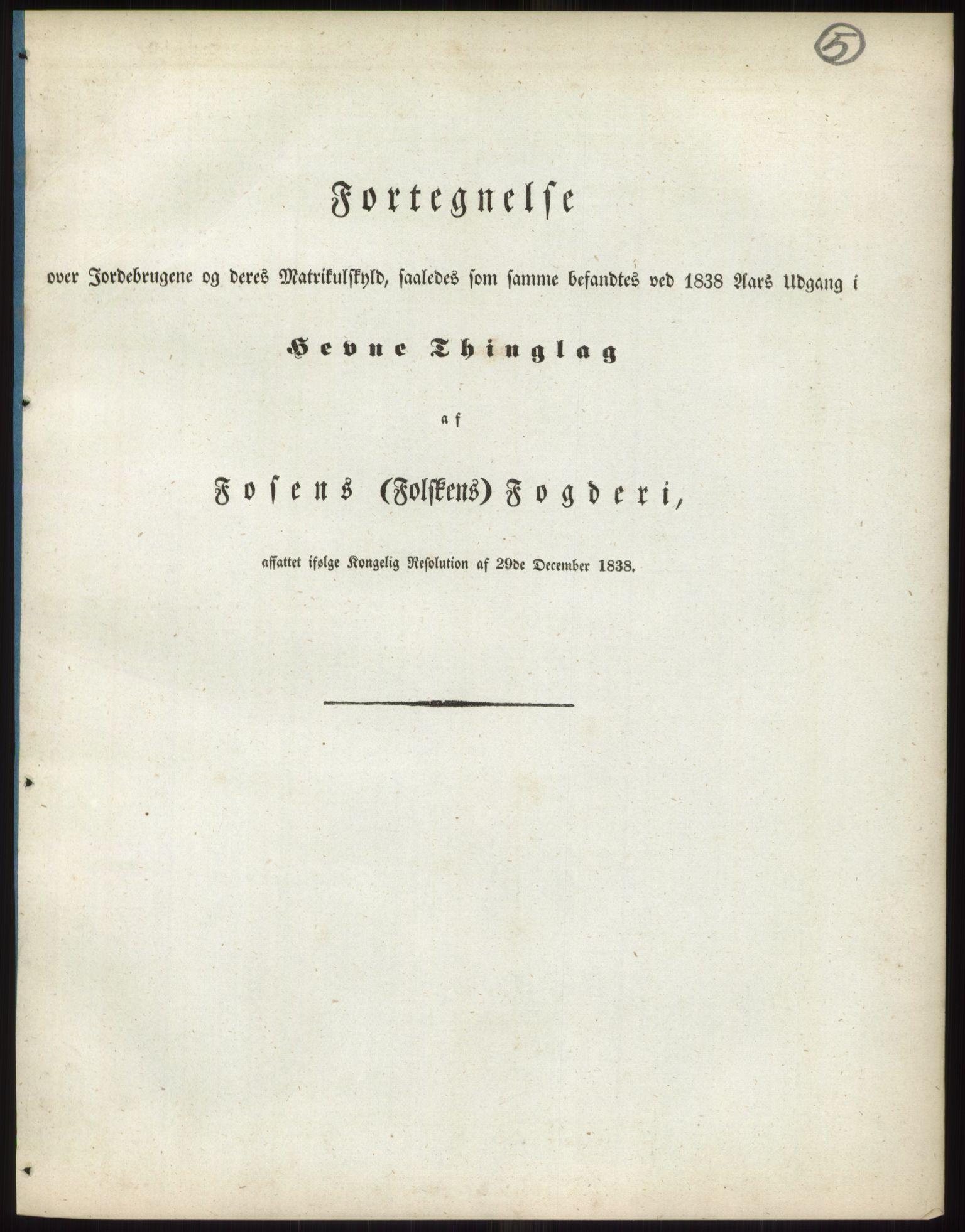 RA, 1838-matrikkelen (publikasjon)*, 1838, s. 5