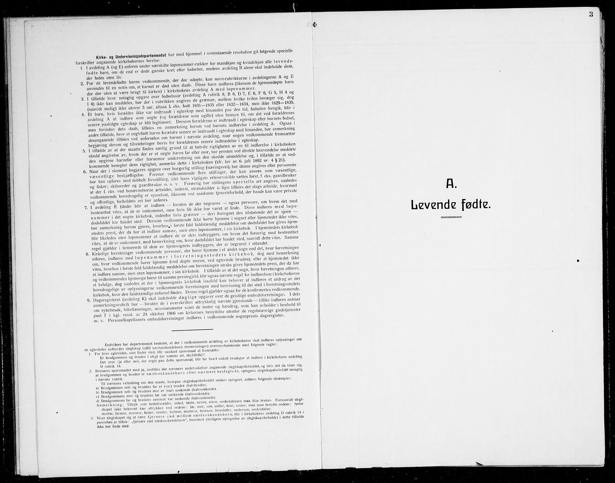 SAB, Herdla Sokneprestembete, H/Hab: Klokkerbok nr. C 3, 1926-1940, s. 3