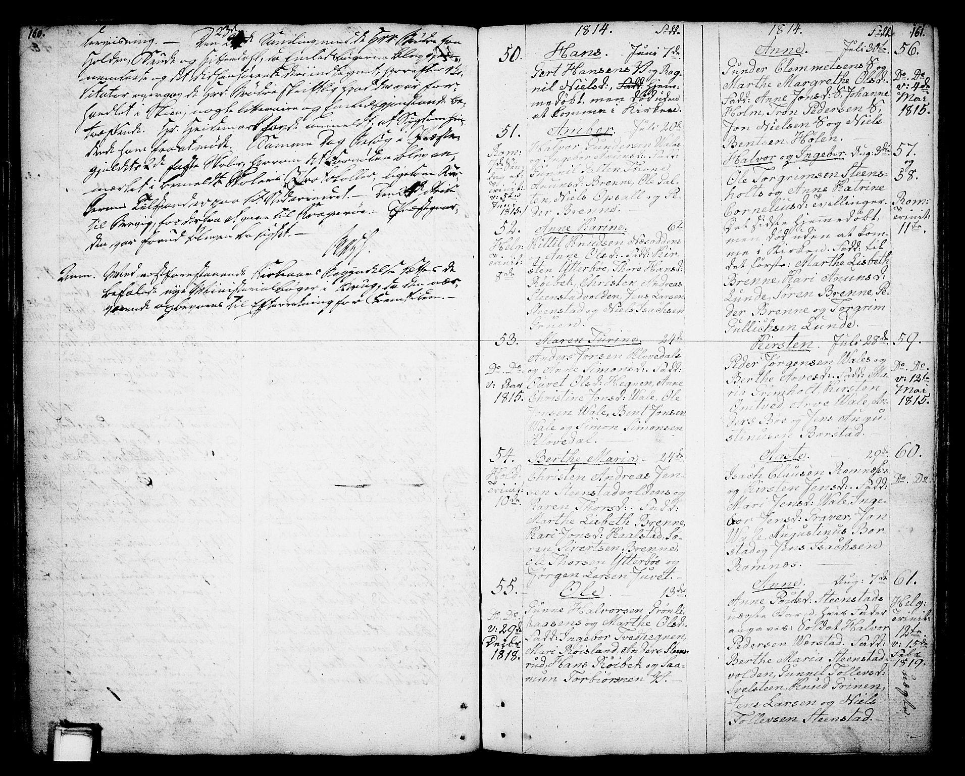 SAKO, Holla kirkebøker, F/Fa/L0002: Ministerialbok nr. 2, 1779-1814, s. 160-161
