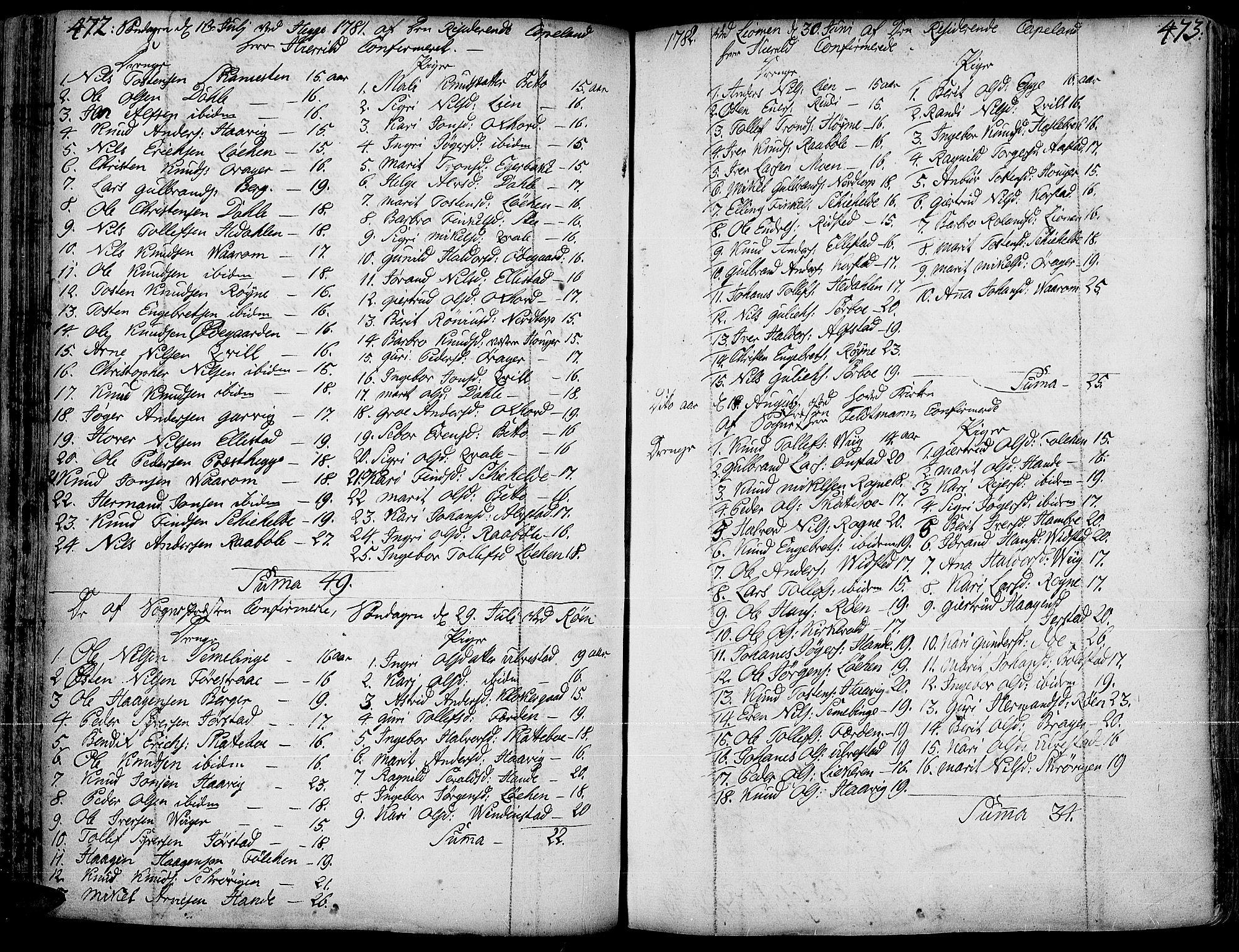 SAH, Slidre prestekontor, Ministerialbok nr. 1, 1724-1814, s. 472-473