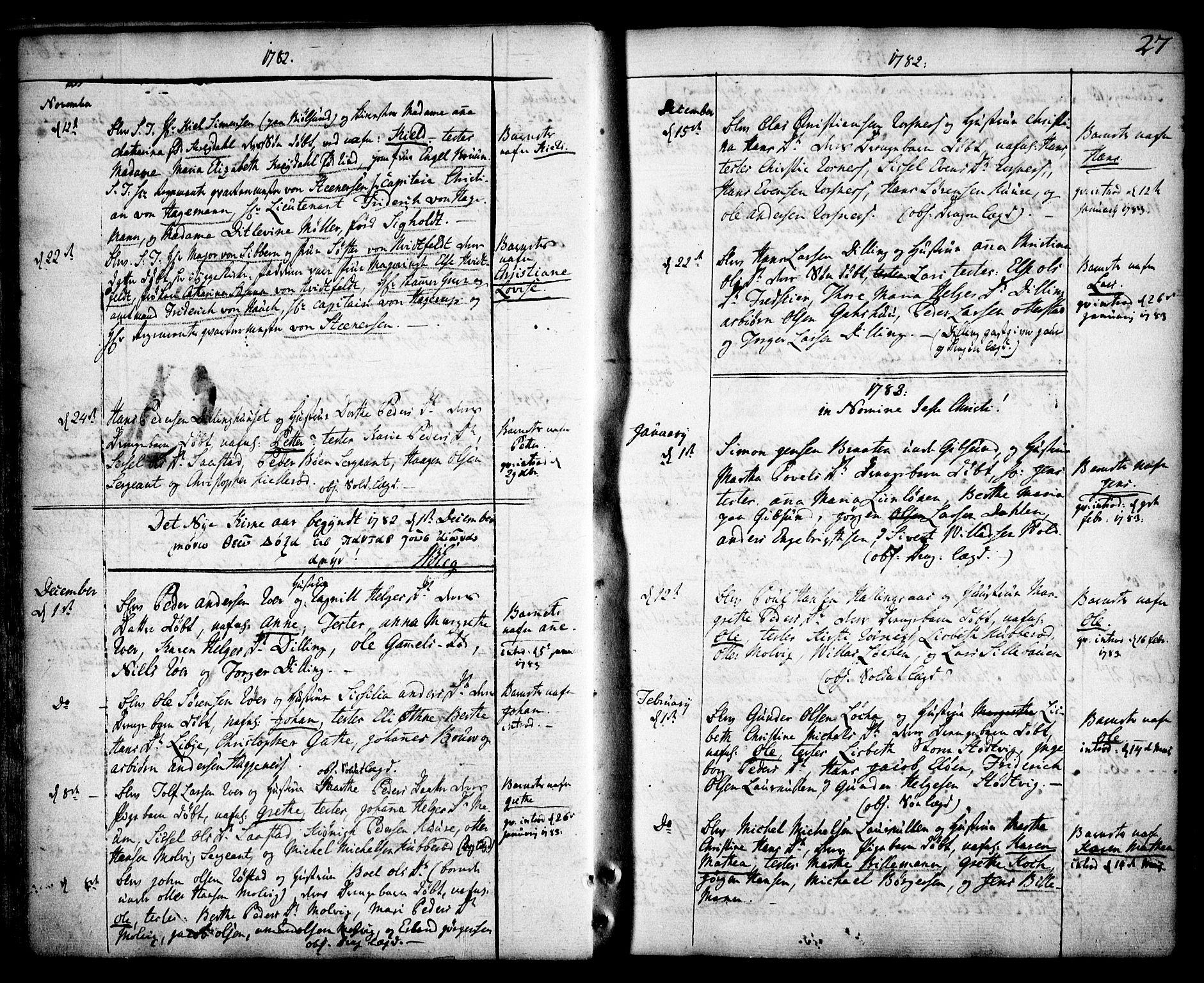 SAO, Rygge prestekontor Kirkebøker, F/Fa/L0002: Ministerialbok nr. 2, 1771-1814, s. 27
