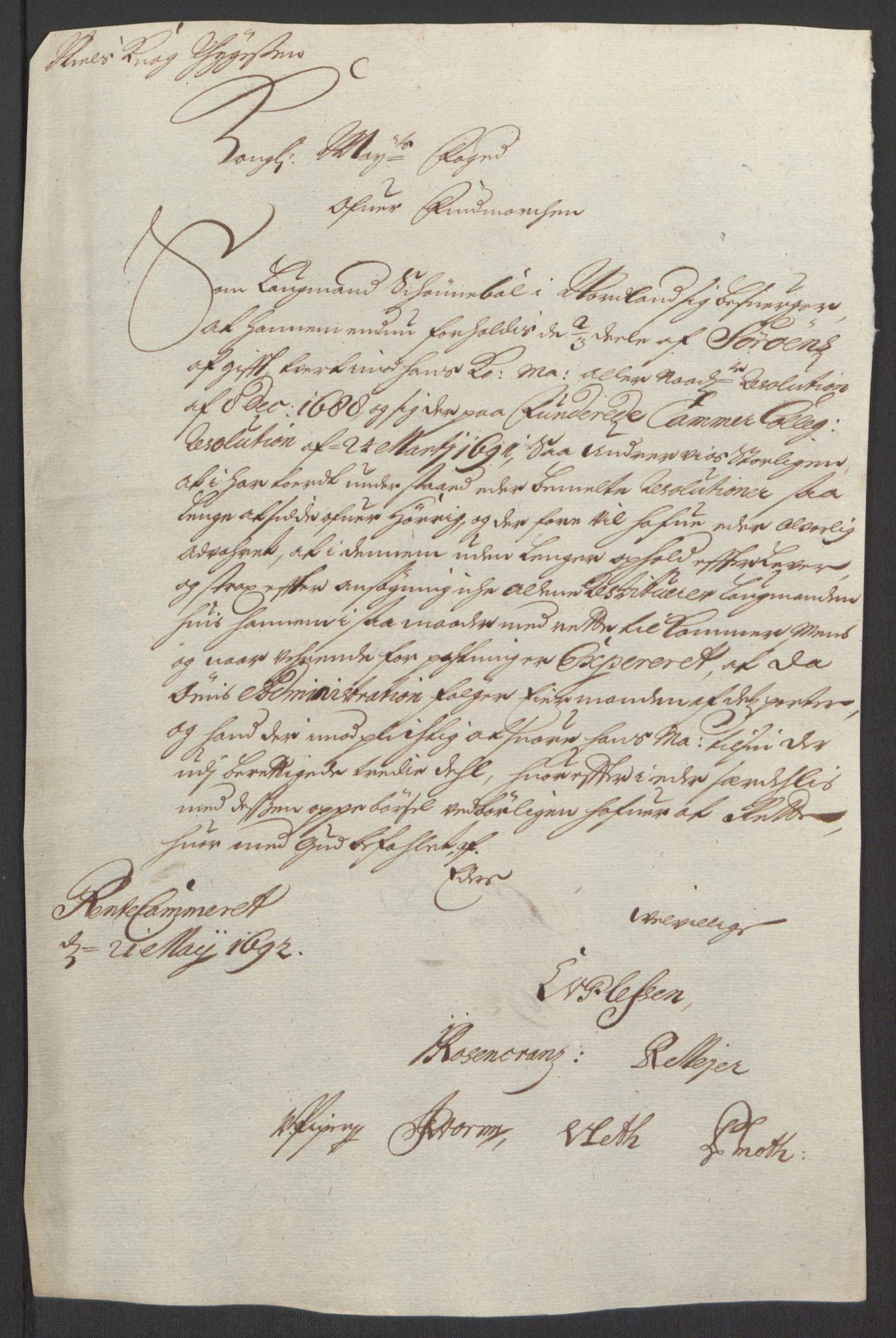 RA, Rentekammeret inntil 1814, Reviderte regnskaper, Fogderegnskap, R69/L4851: Fogderegnskap Finnmark/Vardøhus, 1691-1700, s. 173