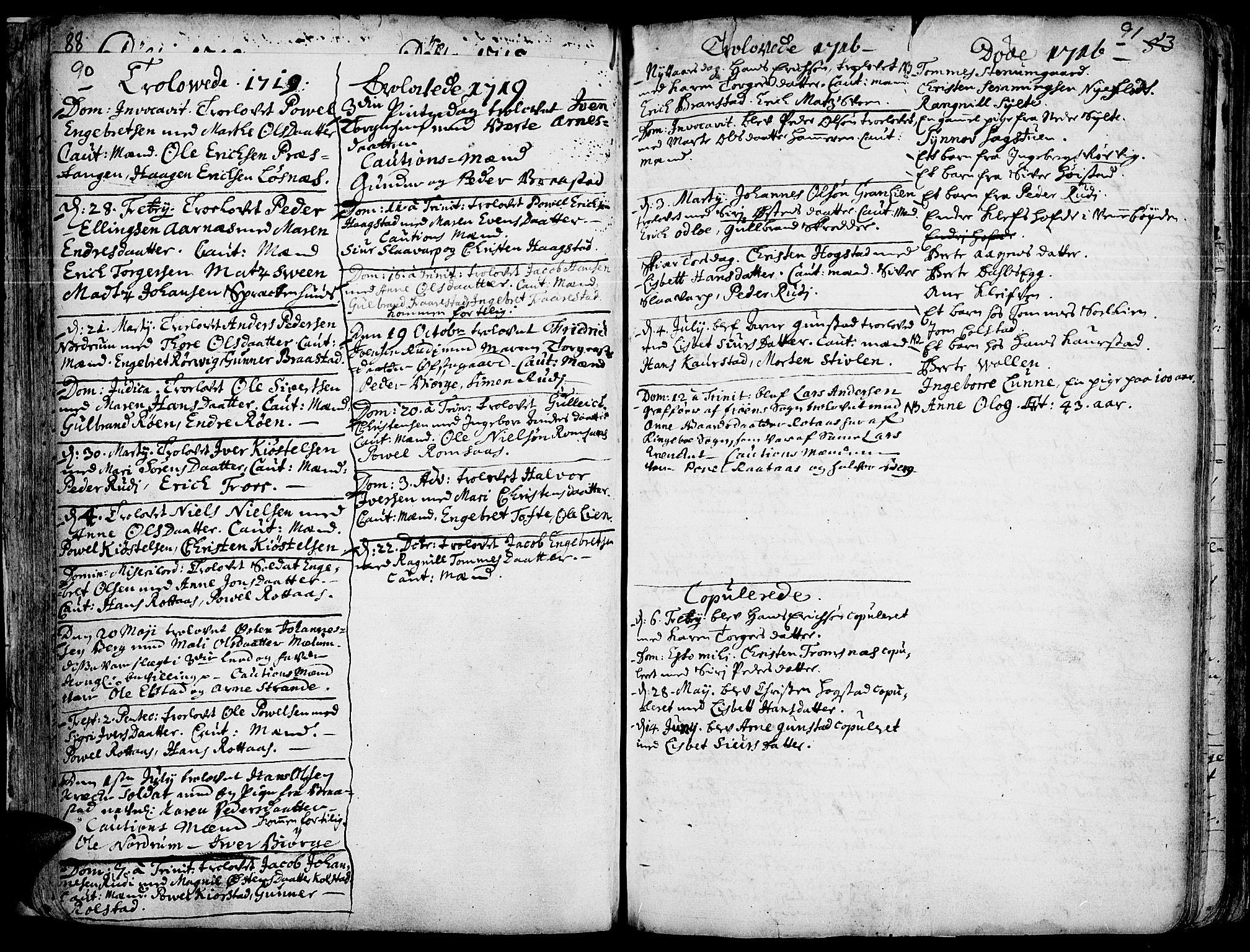 SAH, Ringebu prestekontor, Ministerialbok nr. 1, 1696-1733, s. 90-91
