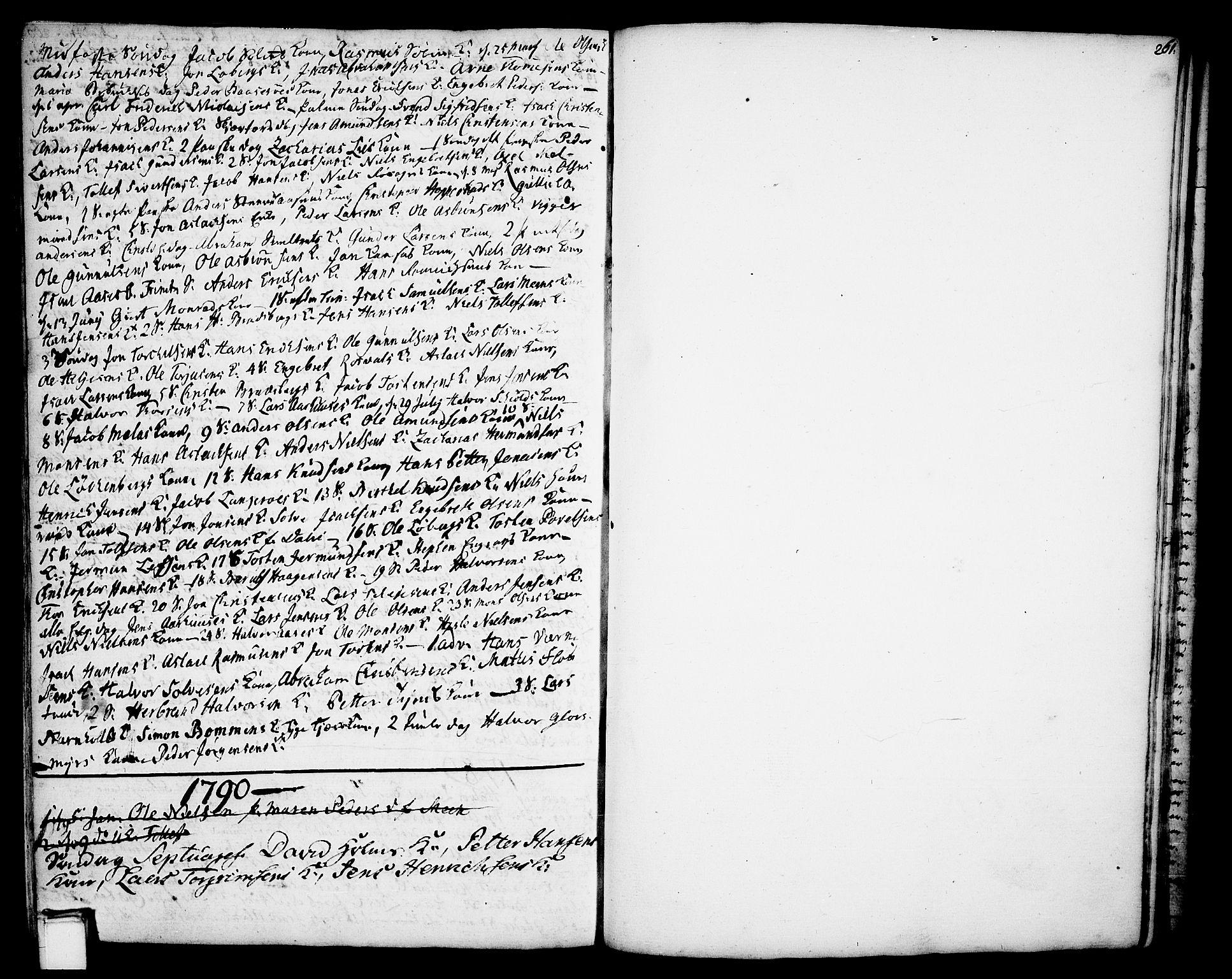 SAKO, Gjerpen kirkebøker, F/Fa/L0002: Ministerialbok nr. 2, 1747-1795, s. 261