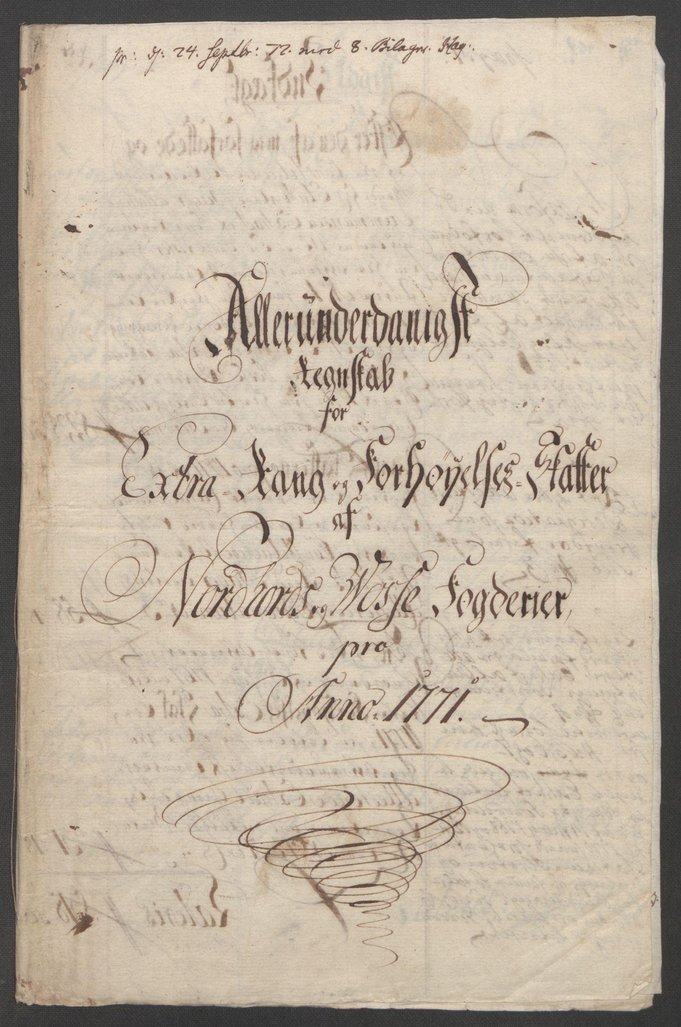 RA, Rentekammeret inntil 1814, Reviderte regnskaper, Fogderegnskap, R51/L3303: Ekstraskatten Nordhordland og Voss, 1762-1772, s. 582