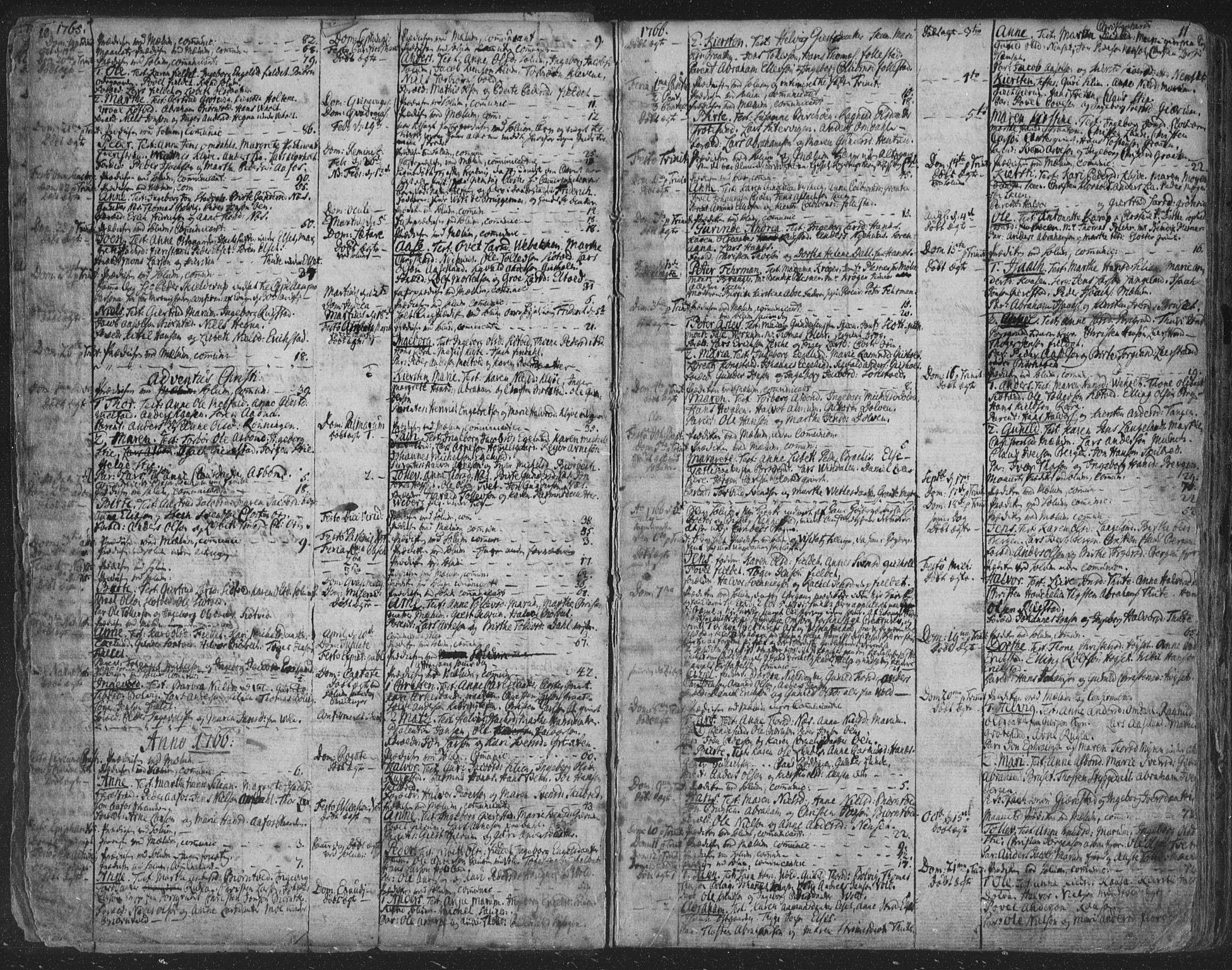 SAKO, Solum kirkebøker, F/Fa/L0003: Ministerialbok nr. I 3, 1761-1814, s. 10-11