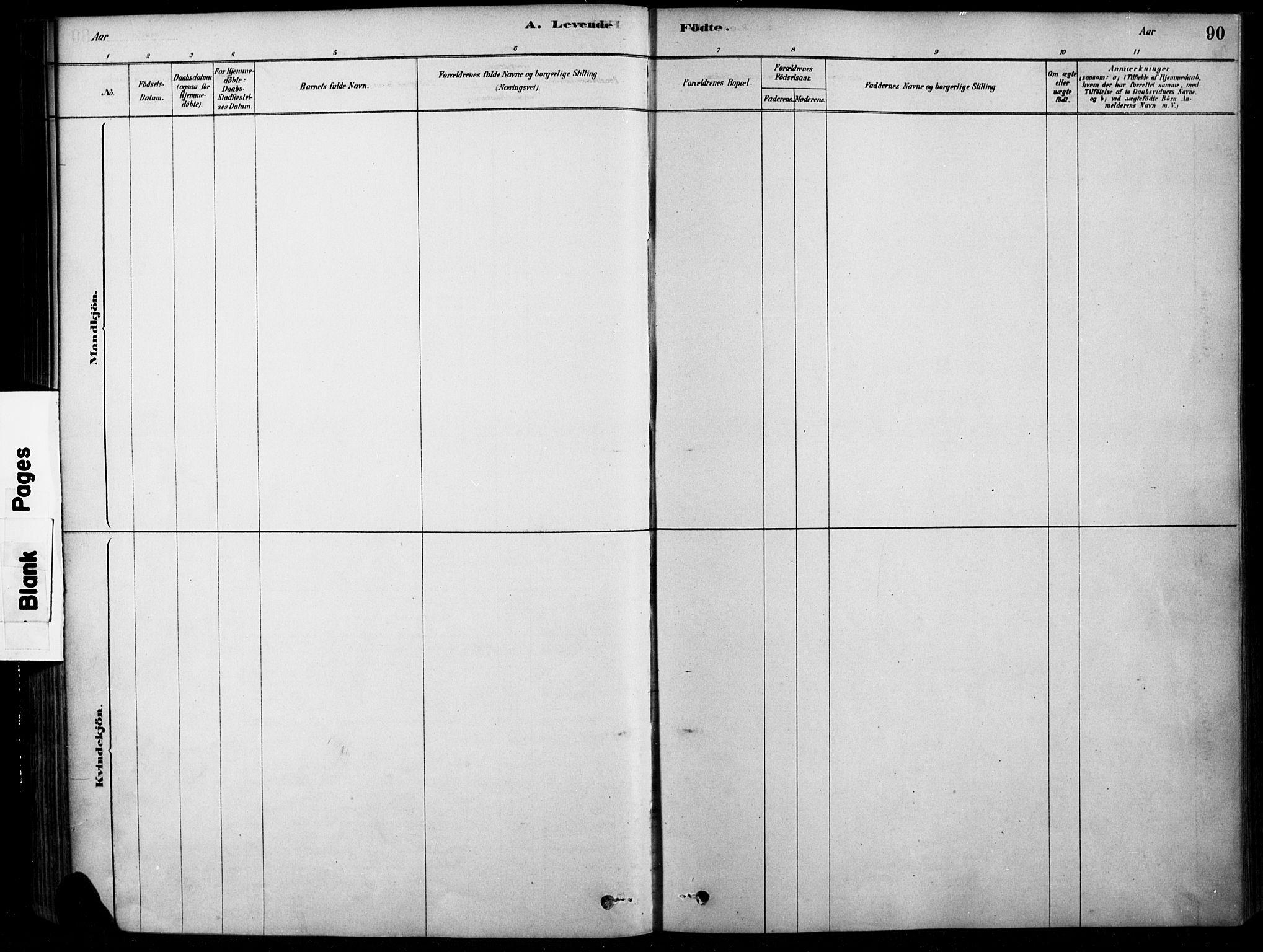 SAH, Søndre Land prestekontor, K/L0003: Ministerialbok nr. 3, 1878-1894, s. 90