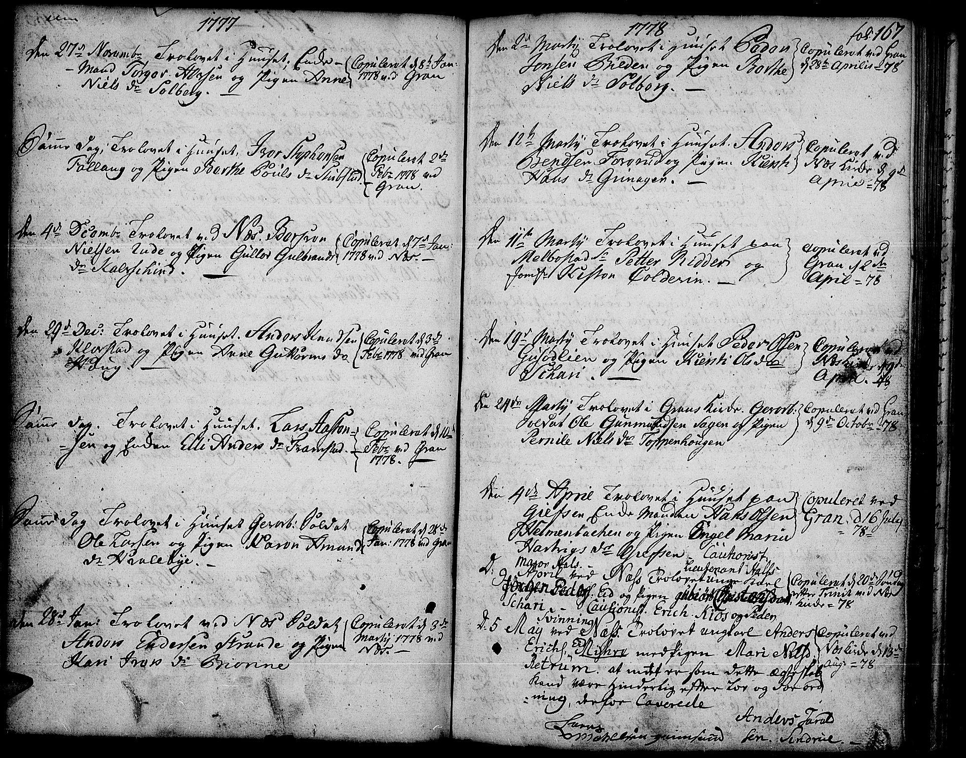 SAH, Gran prestekontor, Ministerialbok nr. 5, 1776-1788, s. 167
