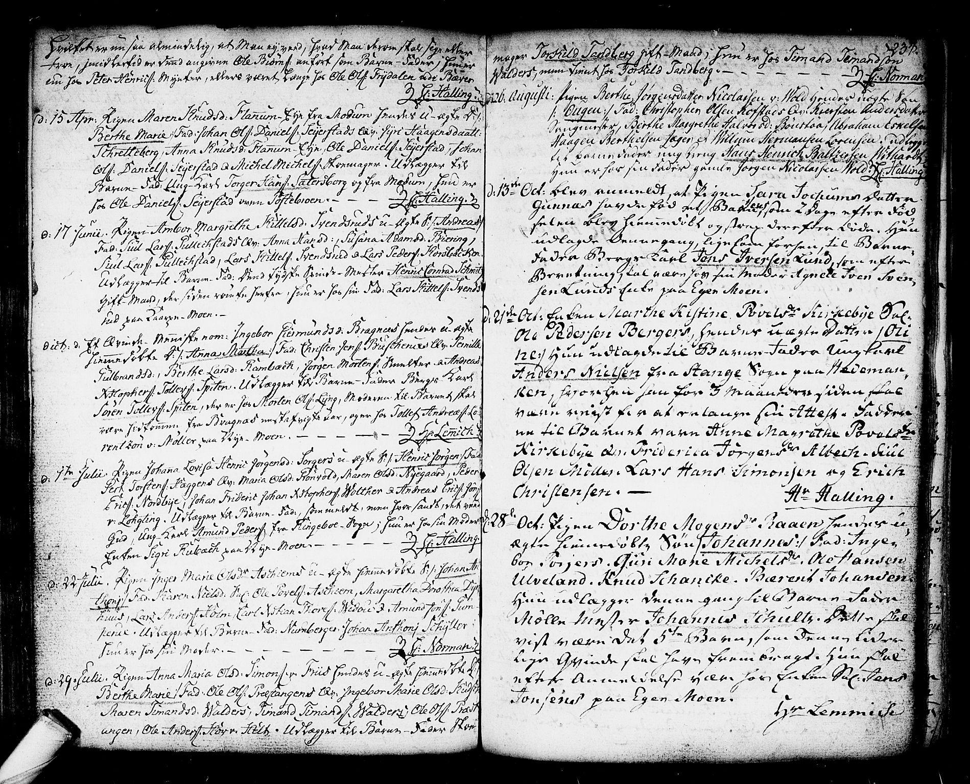 SAKO, Kongsberg kirkebøker, F/Fa/L0006: Ministerialbok nr. I 6, 1783-1797, s. 234