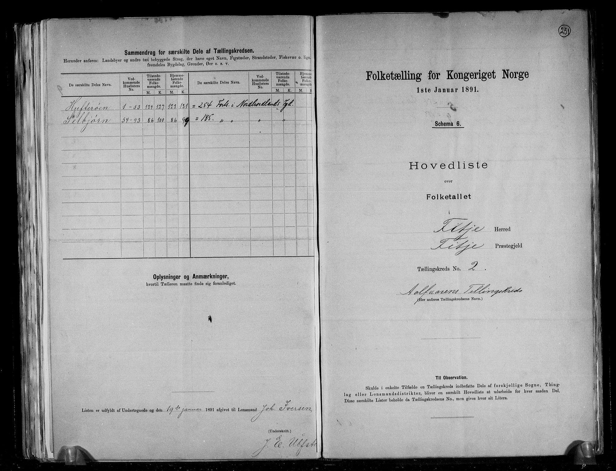 RA, Folketelling 1891 for 1222 Fitjar herred, 1891, s. 6