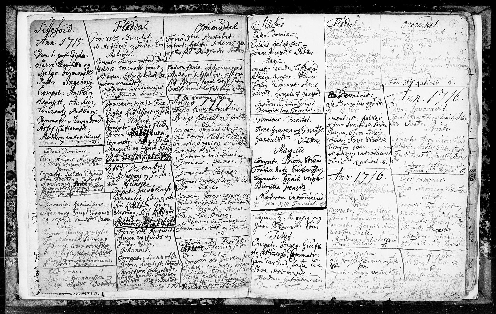 SAKO, Seljord kirkebøker, F/Fa/L0003: Ministerialbok nr. I 3, 1714-1725, s. 4