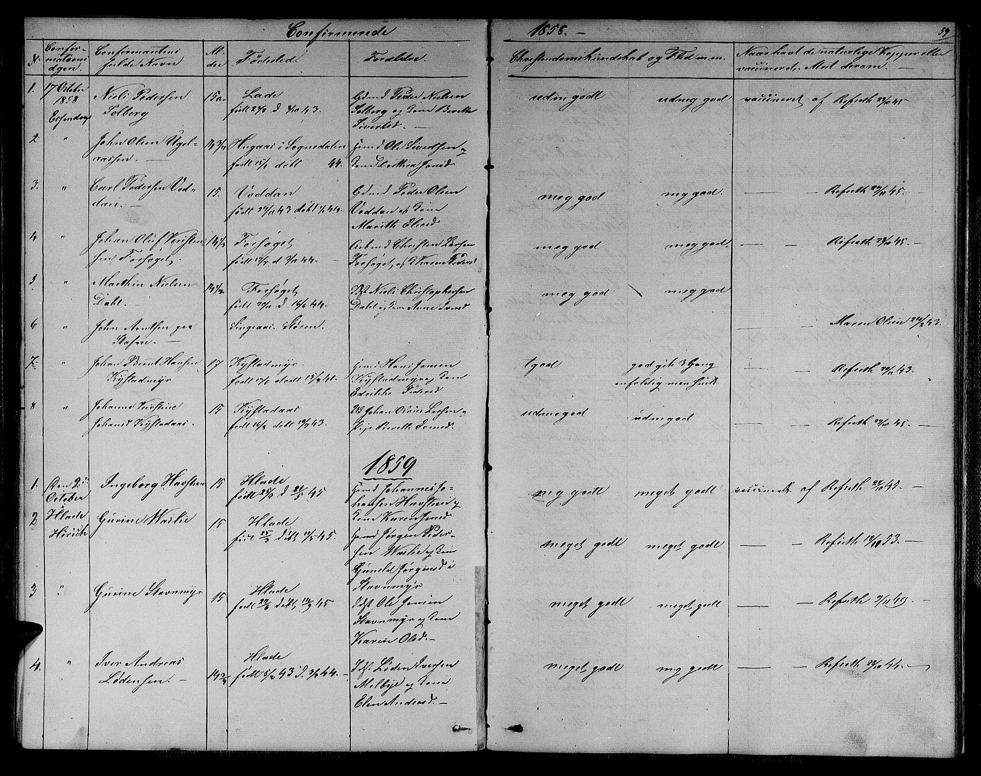 SAT, Ministerialprotokoller, klokkerbøker og fødselsregistre - Sør-Trøndelag, 611/L0353: Klokkerbok nr. 611C01, 1854-1881, s. 59