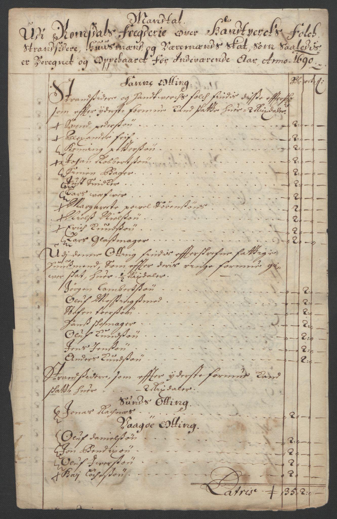 RA, Rentekammeret inntil 1814, Reviderte regnskaper, Fogderegnskap, R55/L3649: Fogderegnskap Romsdal, 1690-1691, s. 67