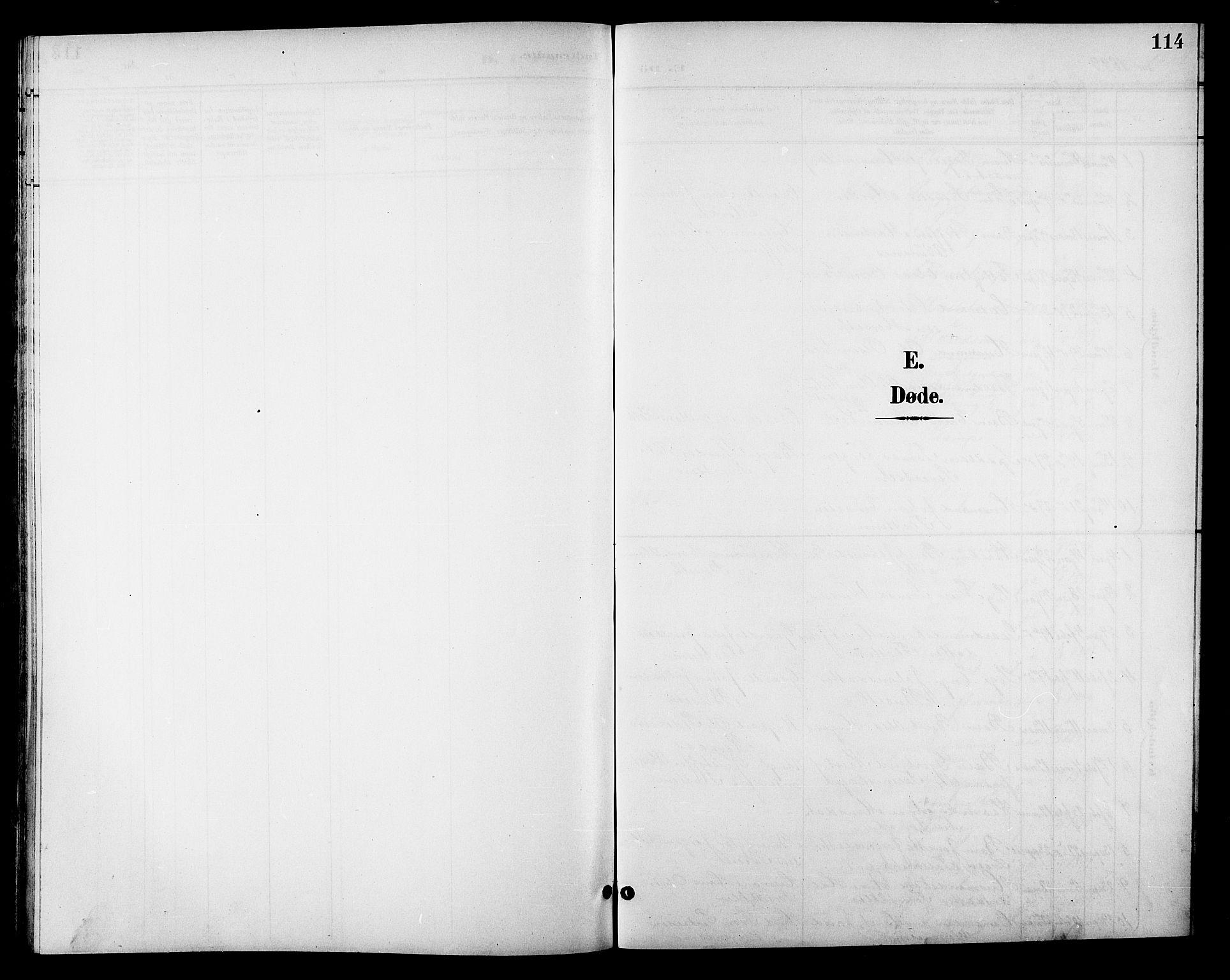 SAT, Ministerialprotokoller, klokkerbøker og fødselsregistre - Sør-Trøndelag, 688/L1029: Klokkerbok nr. 688C04, 1899-1915, s. 114