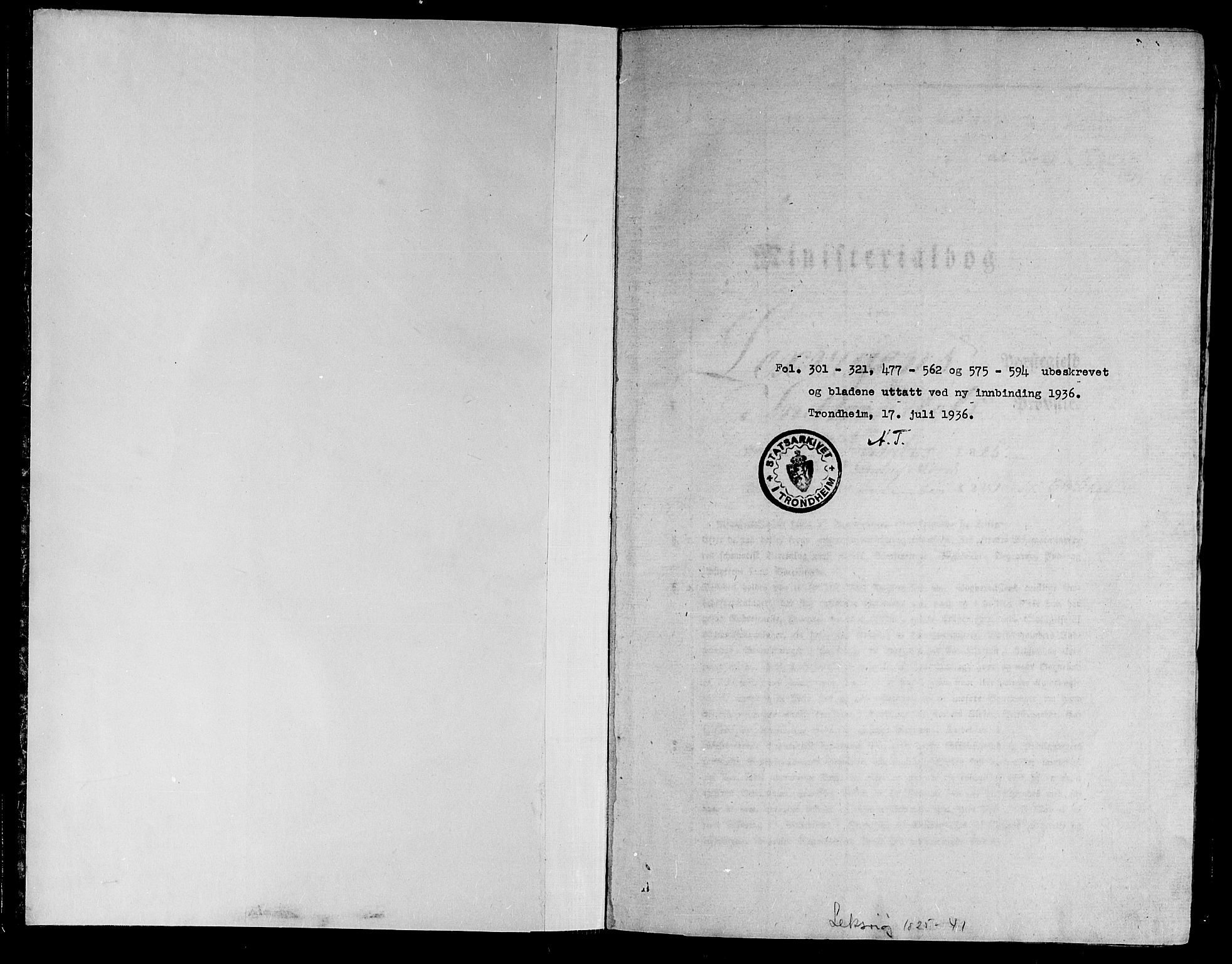 SAT, Ministerialprotokoller, klokkerbøker og fødselsregistre - Nord-Trøndelag, 701/L0006: Ministerialbok nr. 701A06, 1825-1841