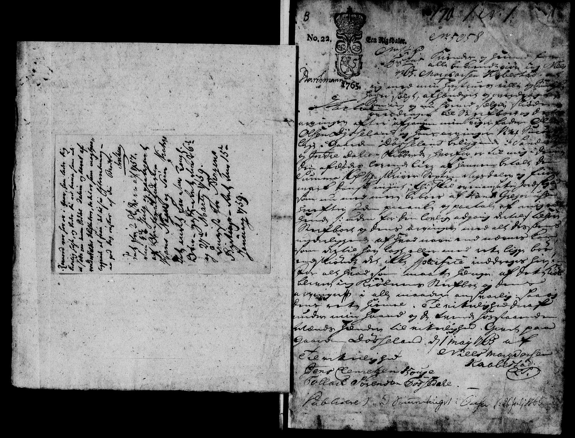 SAB, Sunnfjord tingrett, G/Gb/Gba/L0007a: Pantebok nr. II.B.7a, 1769-1789, s. 0-1
