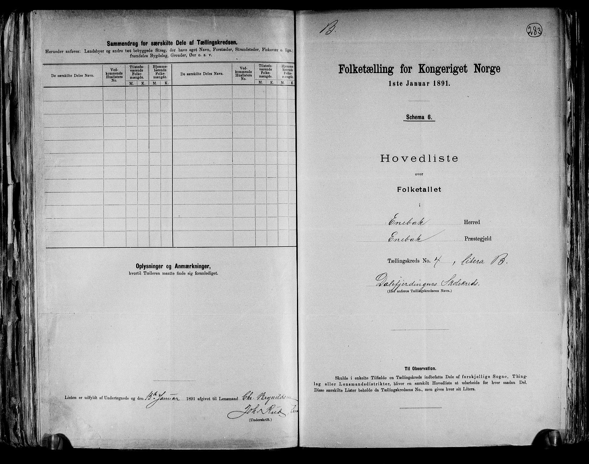 RA, Folketelling 1891 for 0229 Enebakk herred, 1891, s. 16