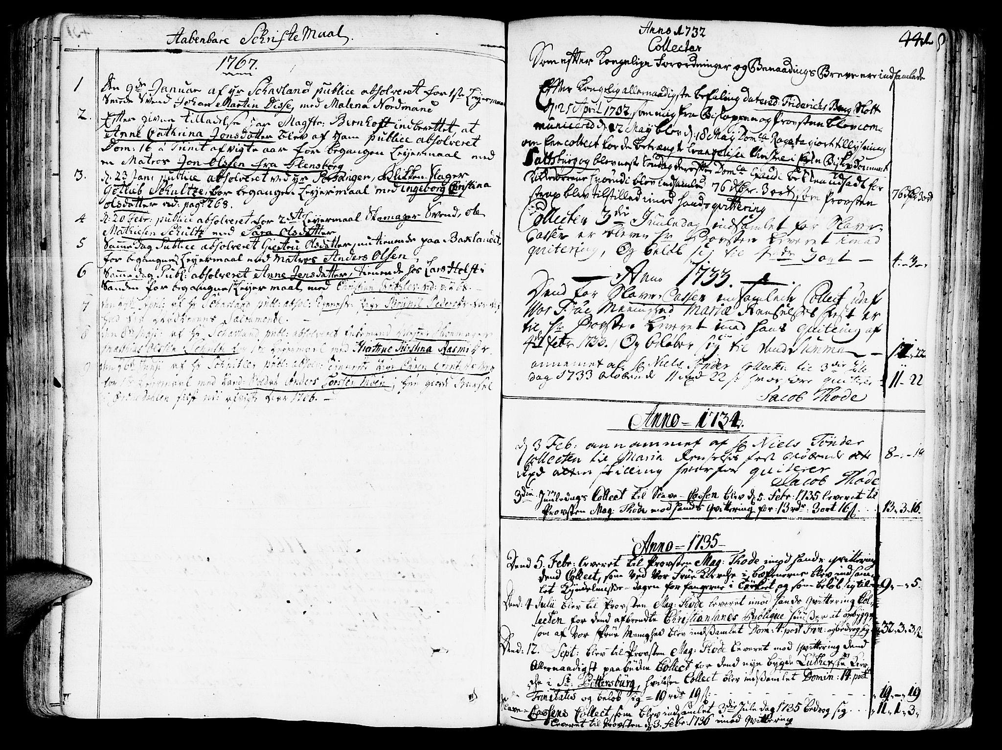 SAT, Ministerialprotokoller, klokkerbøker og fødselsregistre - Sør-Trøndelag, 602/L0103: Ministerialbok nr. 602A01, 1732-1774, s. 441