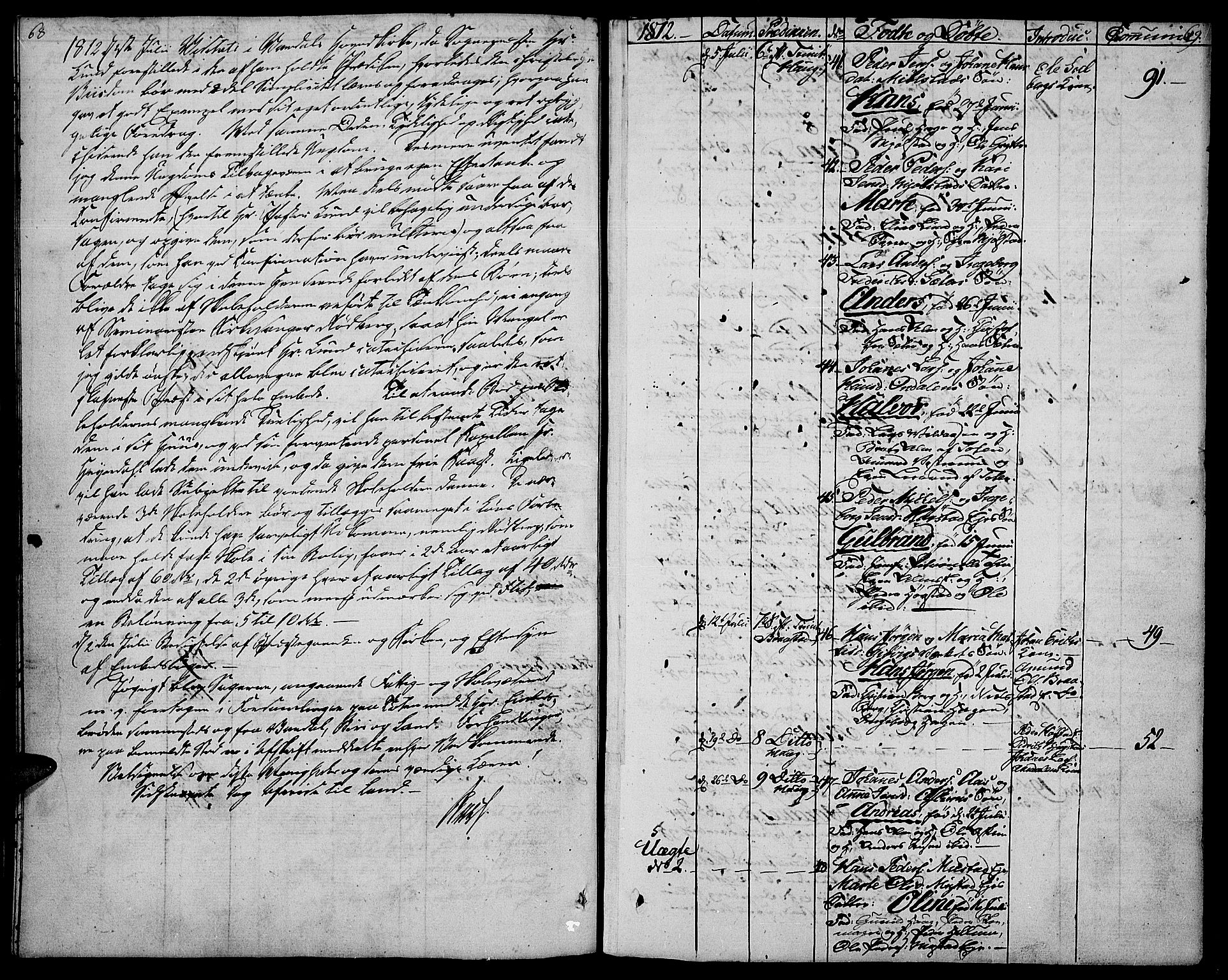 SAH, Vardal prestekontor, H/Ha/Haa/L0003: Ministerialbok nr. 3, 1808-1814, s. 68-69