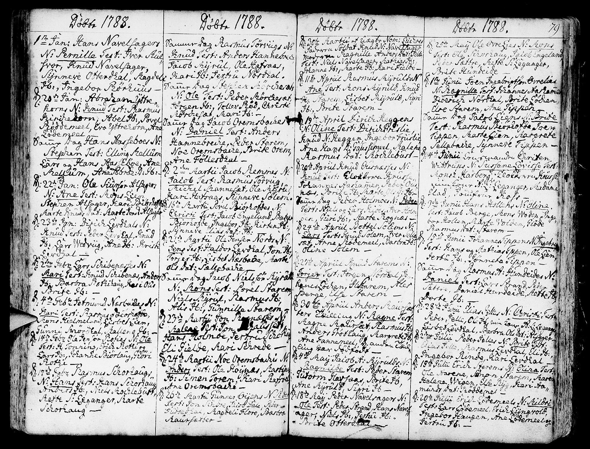 SAB, Eid Sokneprestembete, H/Haa: Ministerialbok nr. A 3, 1770-1805, s. 79