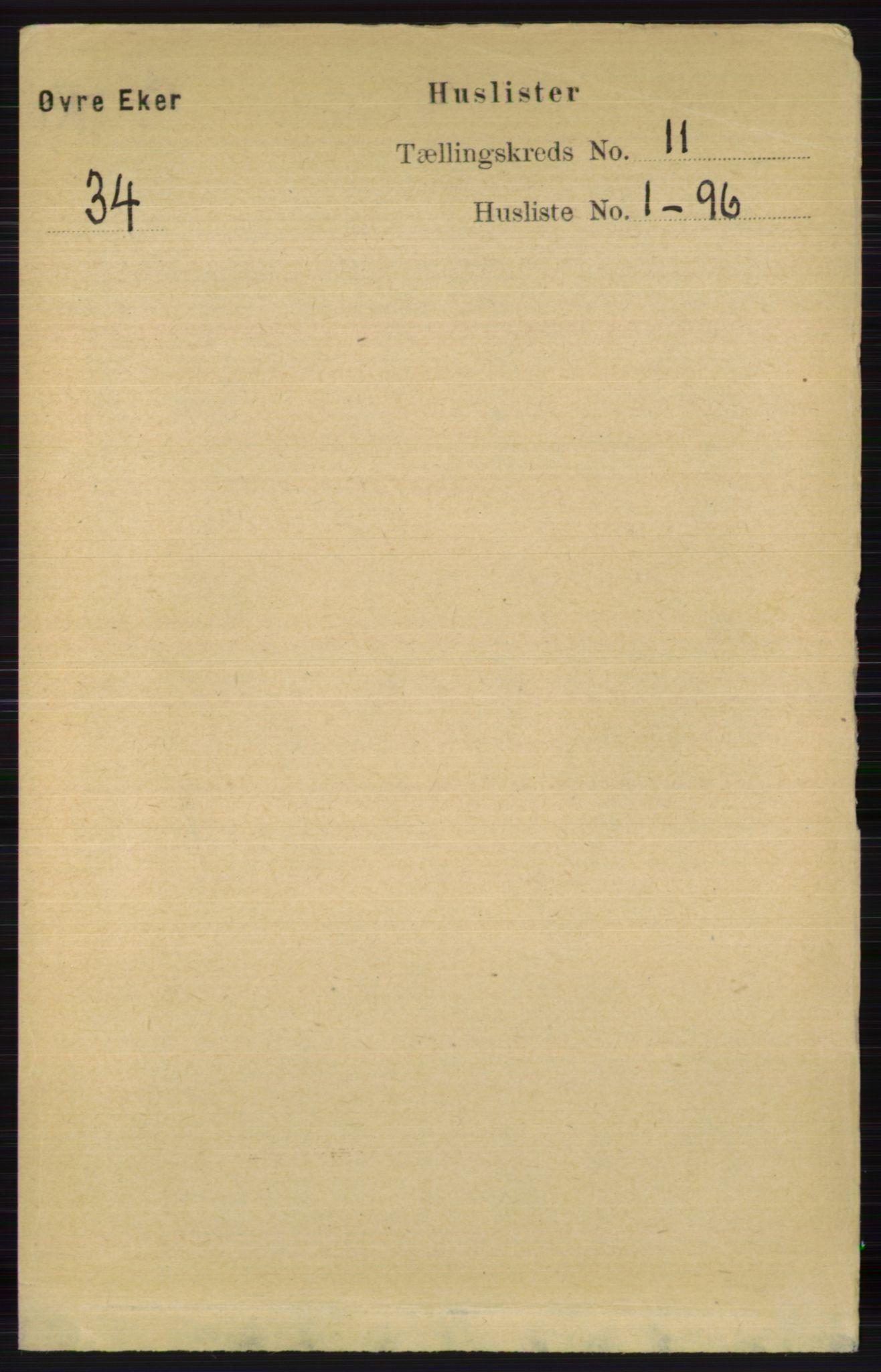 RA, Folketelling 1891 for 0624 Øvre Eiker herred, 1891, s. 4491
